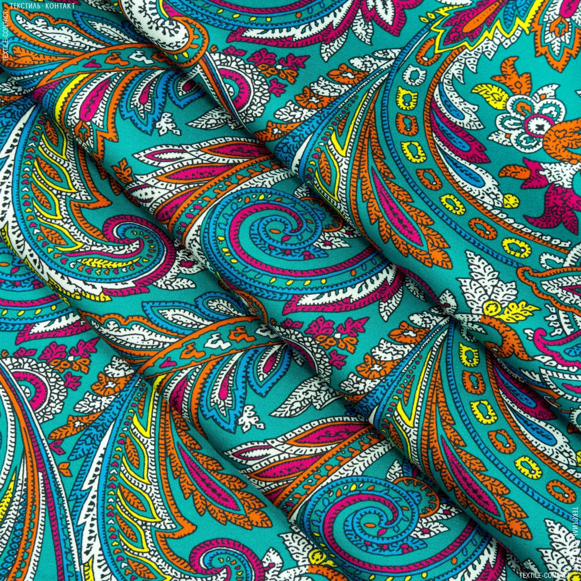 Тканини для костюмів - Котон сатин стрейч принт