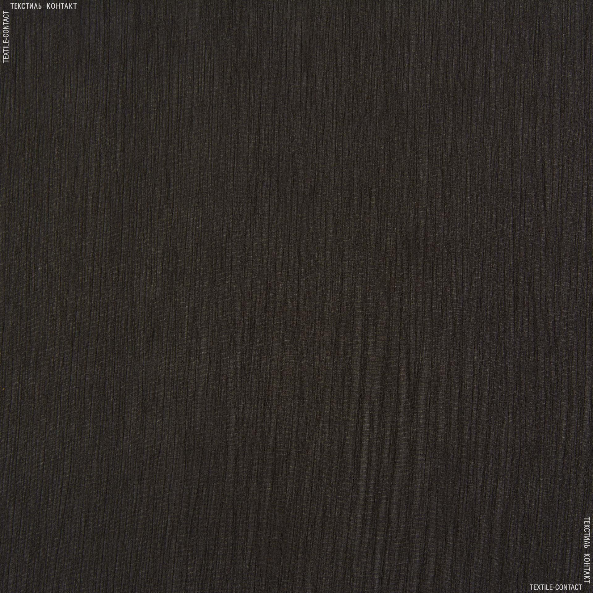 Ткани для платков и бандан - Шифон евро черно-коричневый