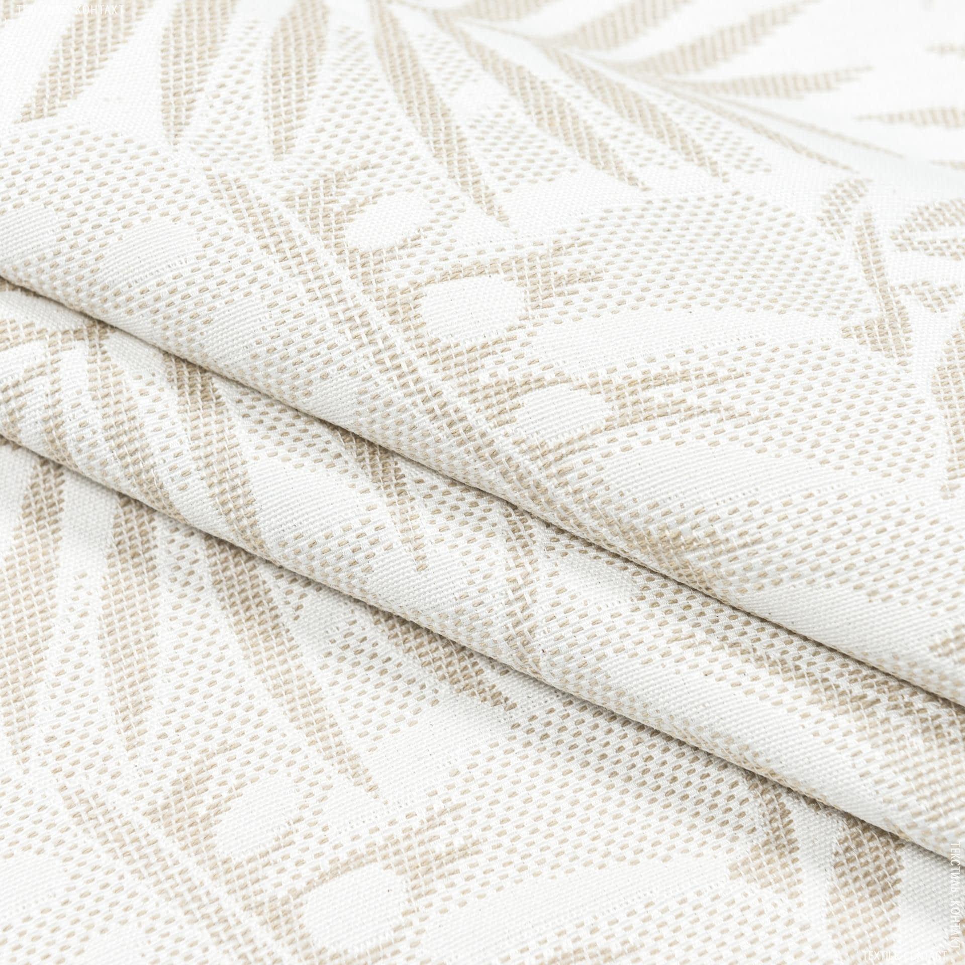 Тканини портьєрні тканини - Декоративна тканина нікосія папороть/ беж