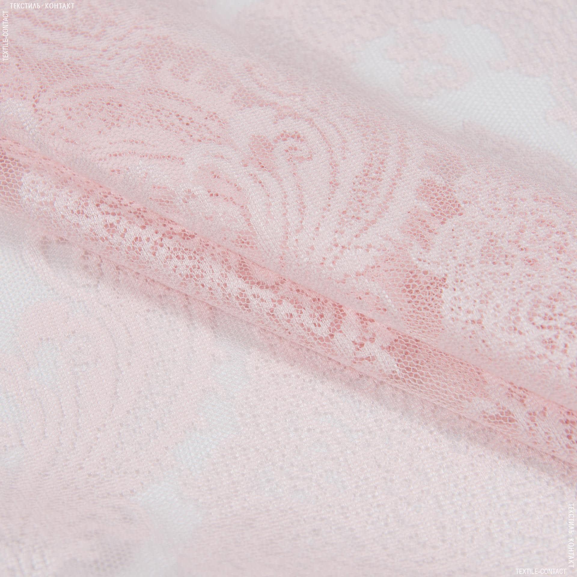 Тканини гардинні тканини - Гардинне полотно гіпюр долорес рожевий