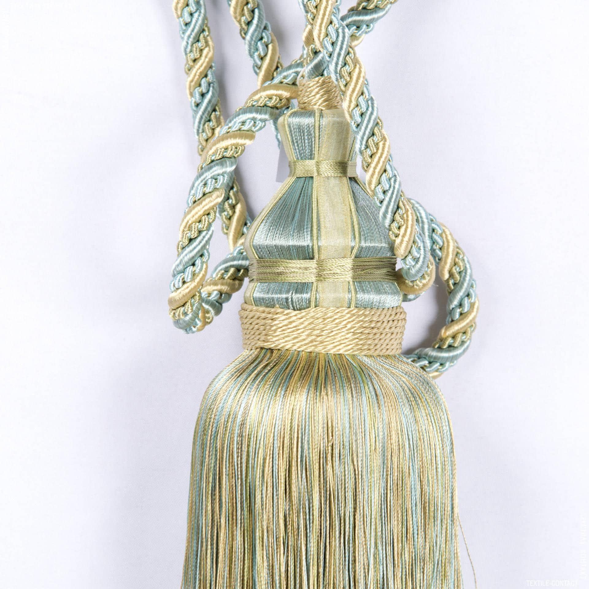Тканини фурнітура для декора - Кисті бремен св.оливка-бірюза