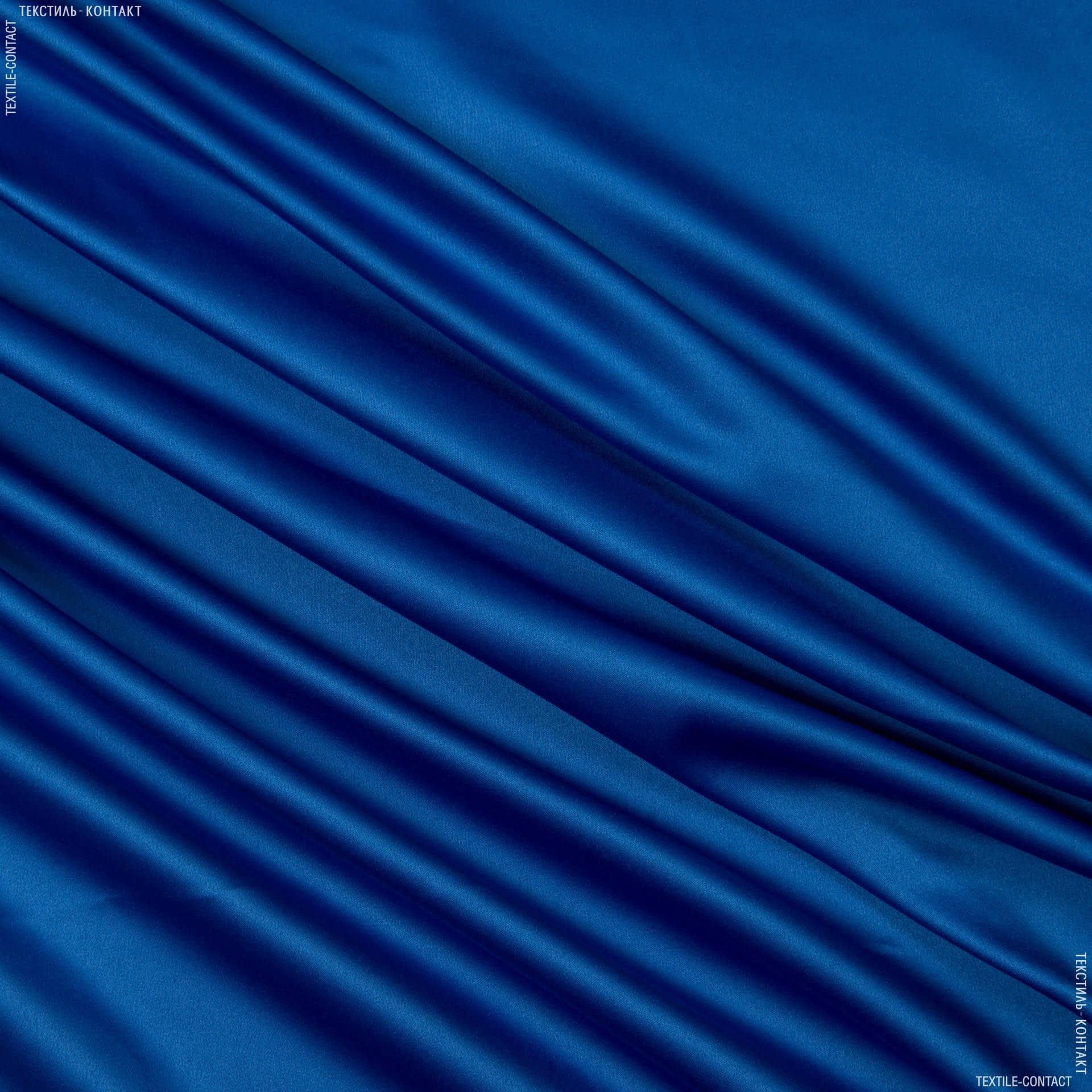 Тканини для хусток та бандан - Атлас стрейч електрик