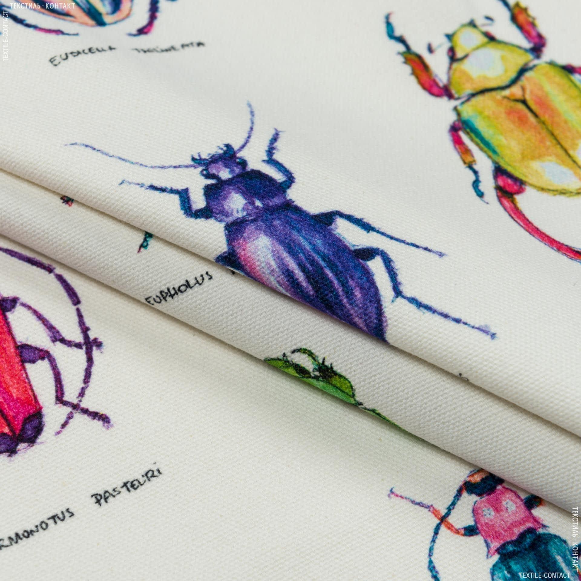 Ткани портьерные ткани - Декоративная ткань жуки мультиколор