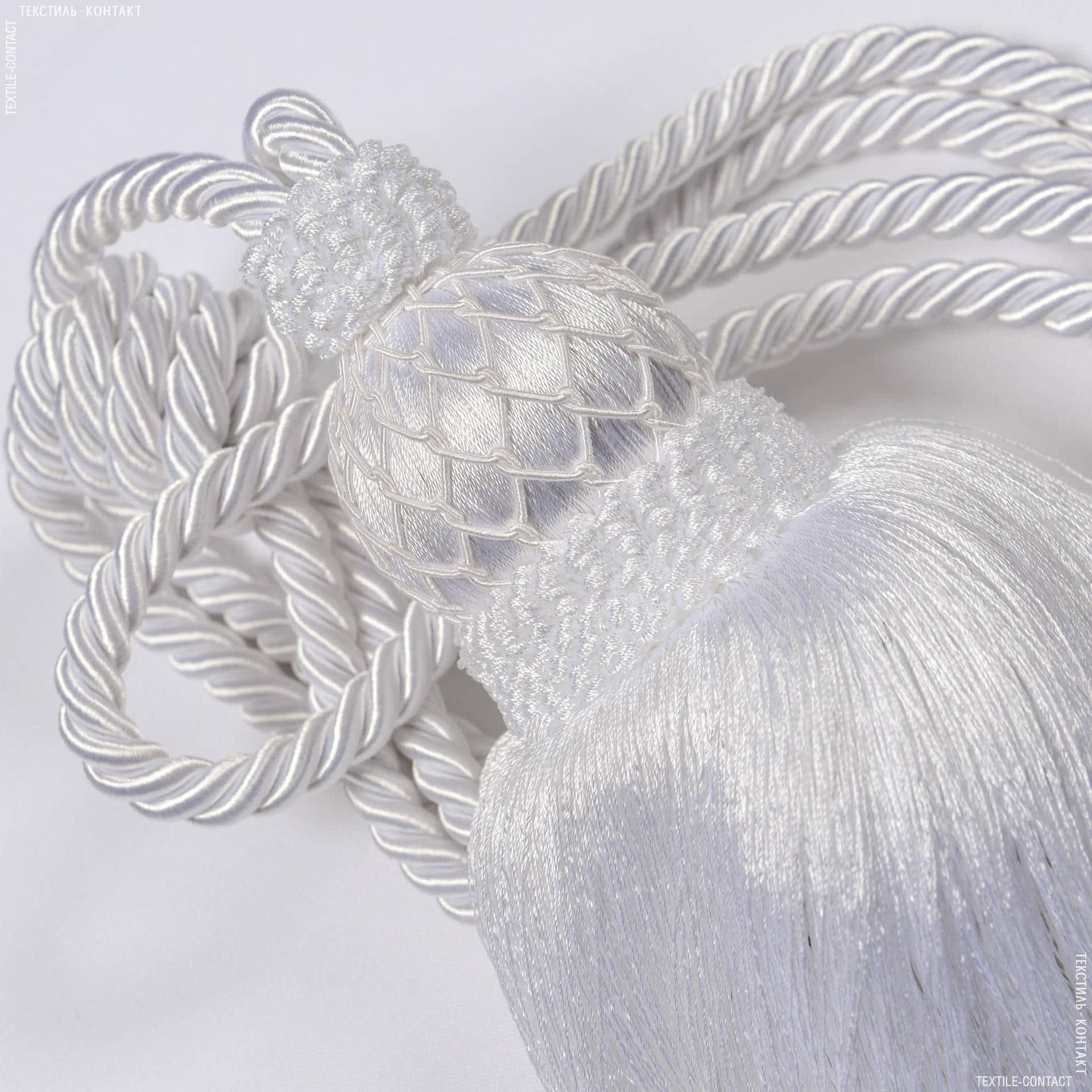 Тканини фурнітура для декора - Кисті верона білий
