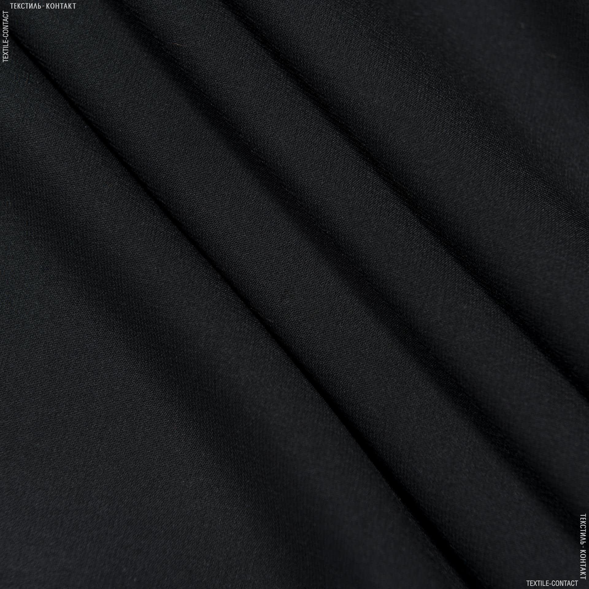 Тканини для хусток та бандан - Шифон стрейч чорний