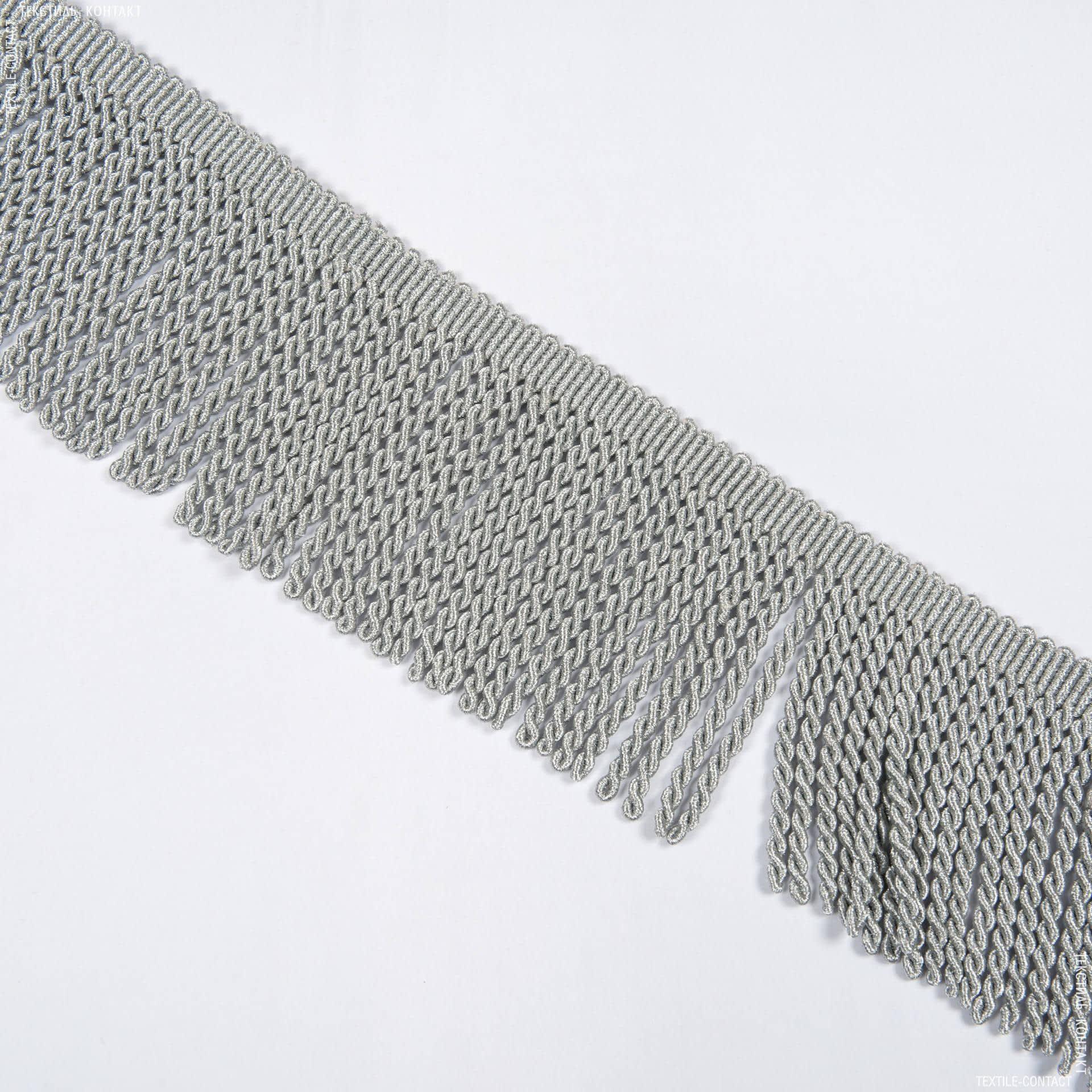 Тканини фурнітура для декора - Бахрома gold спіраль св/сірий