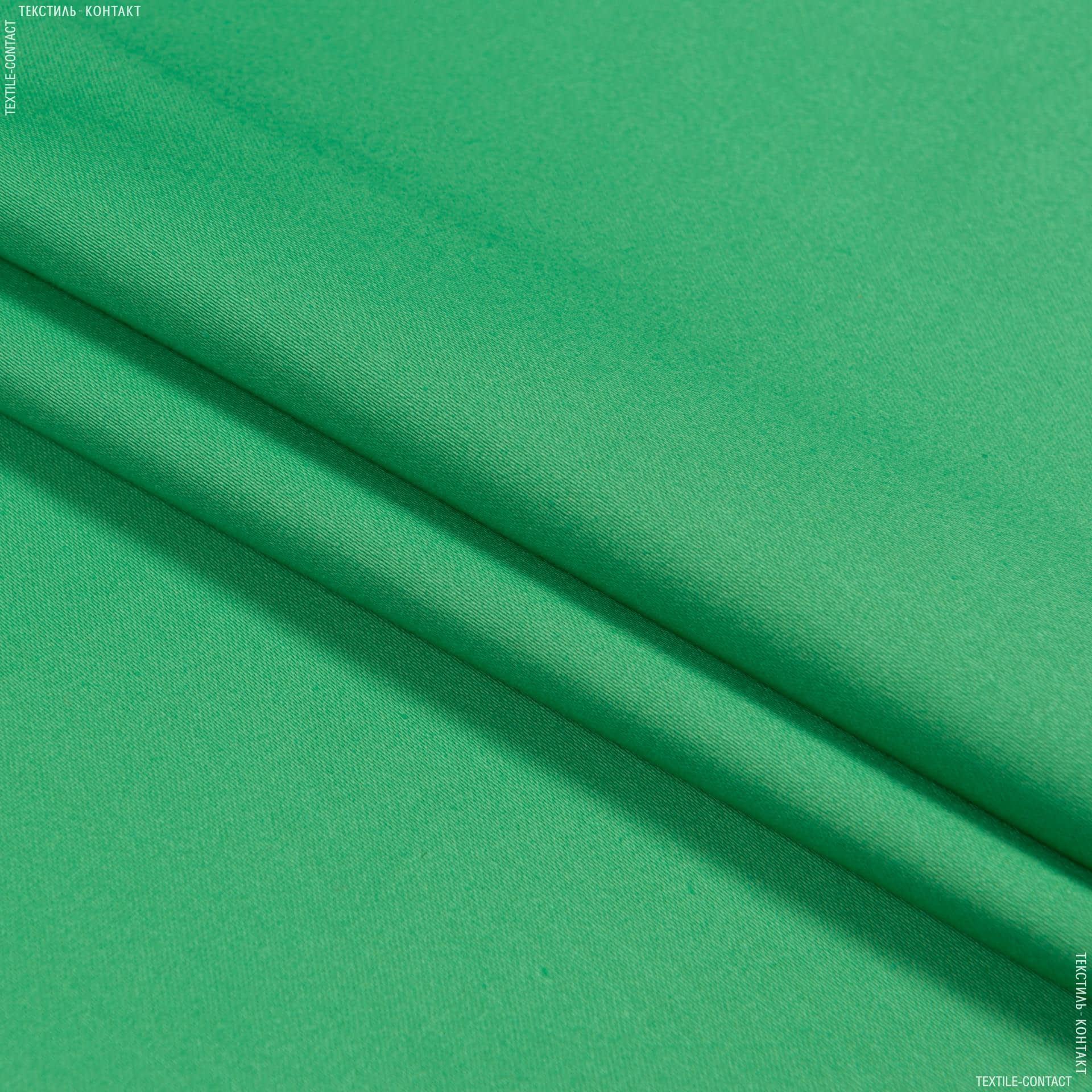 Ткани для брюк - Коттон-сатин лайт стрейч салатовый