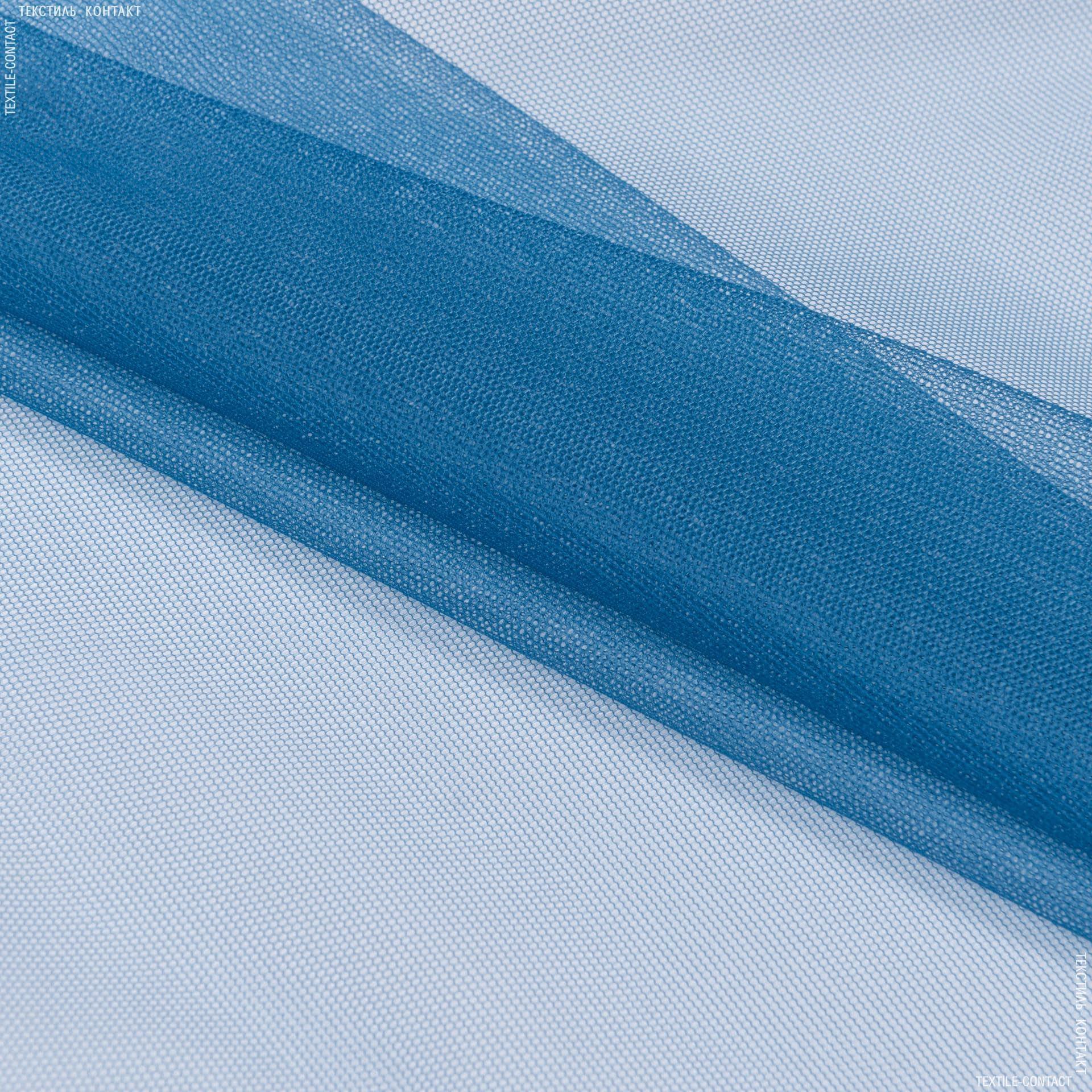 Ткани для платьев - Фатин серо-синий