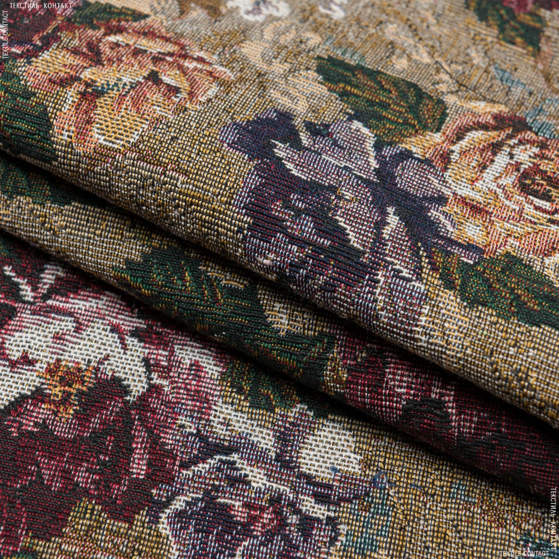 Ткани для декоративных подушек - Гобелен  розари фон т.беж