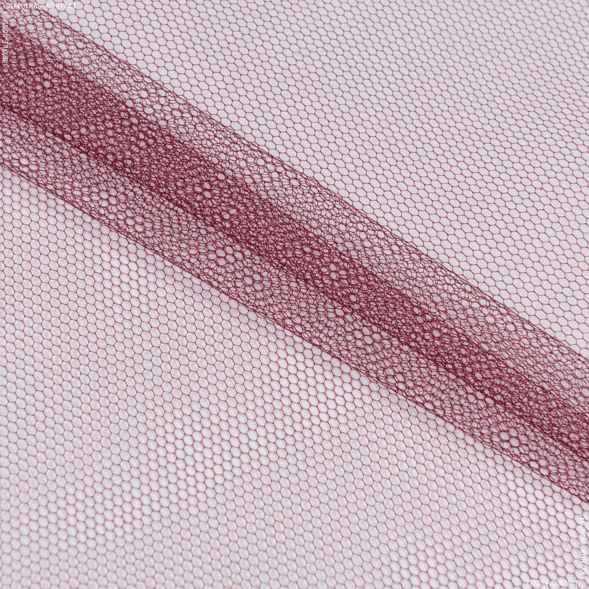 Тканини для блузок - Фатин жорсткий винно-бордовий