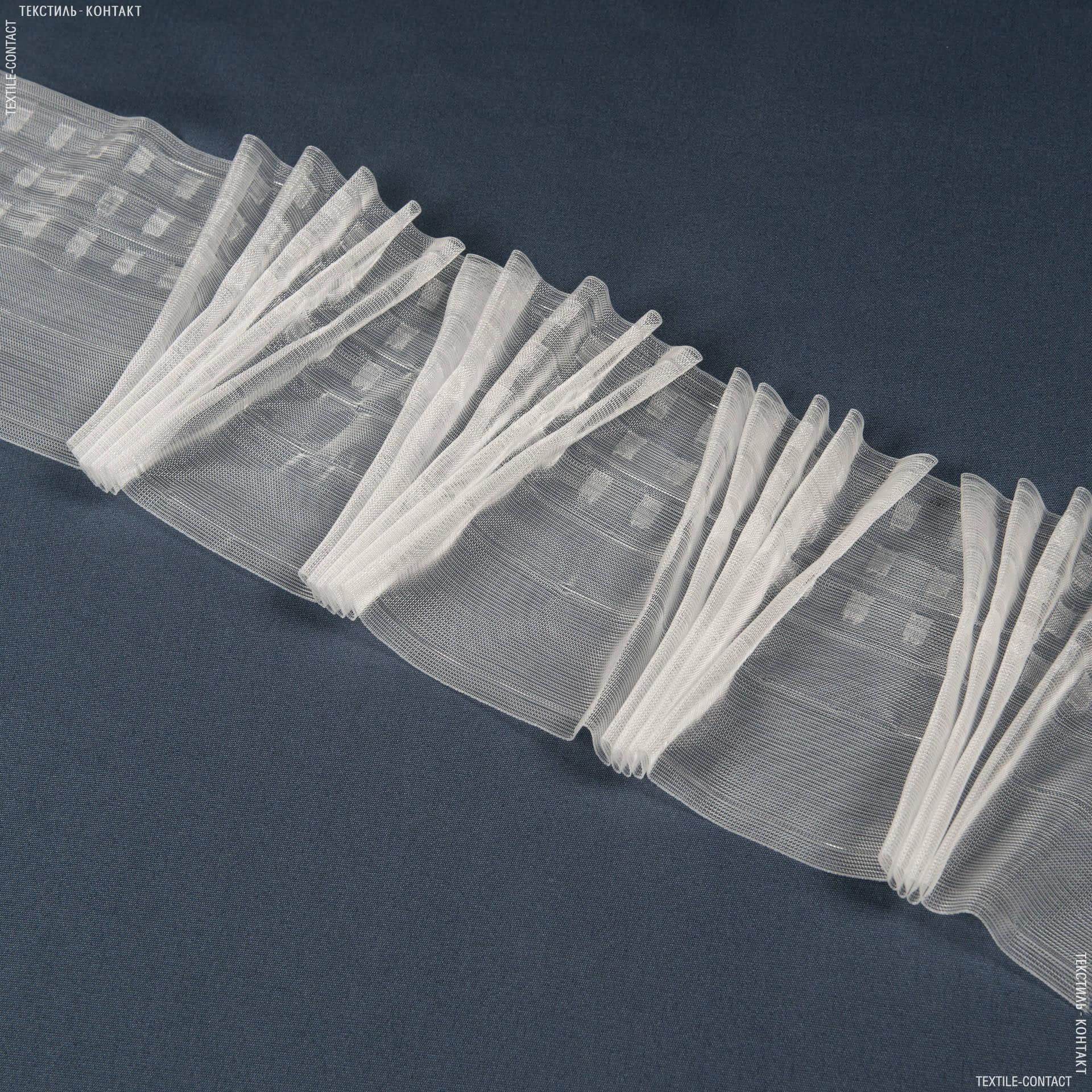 Ткани фурнитура для дома - ТЕСЬМА ШТОРНАЯ КС-1:3 170мм±0.5мм/50м прозрачная Веер
