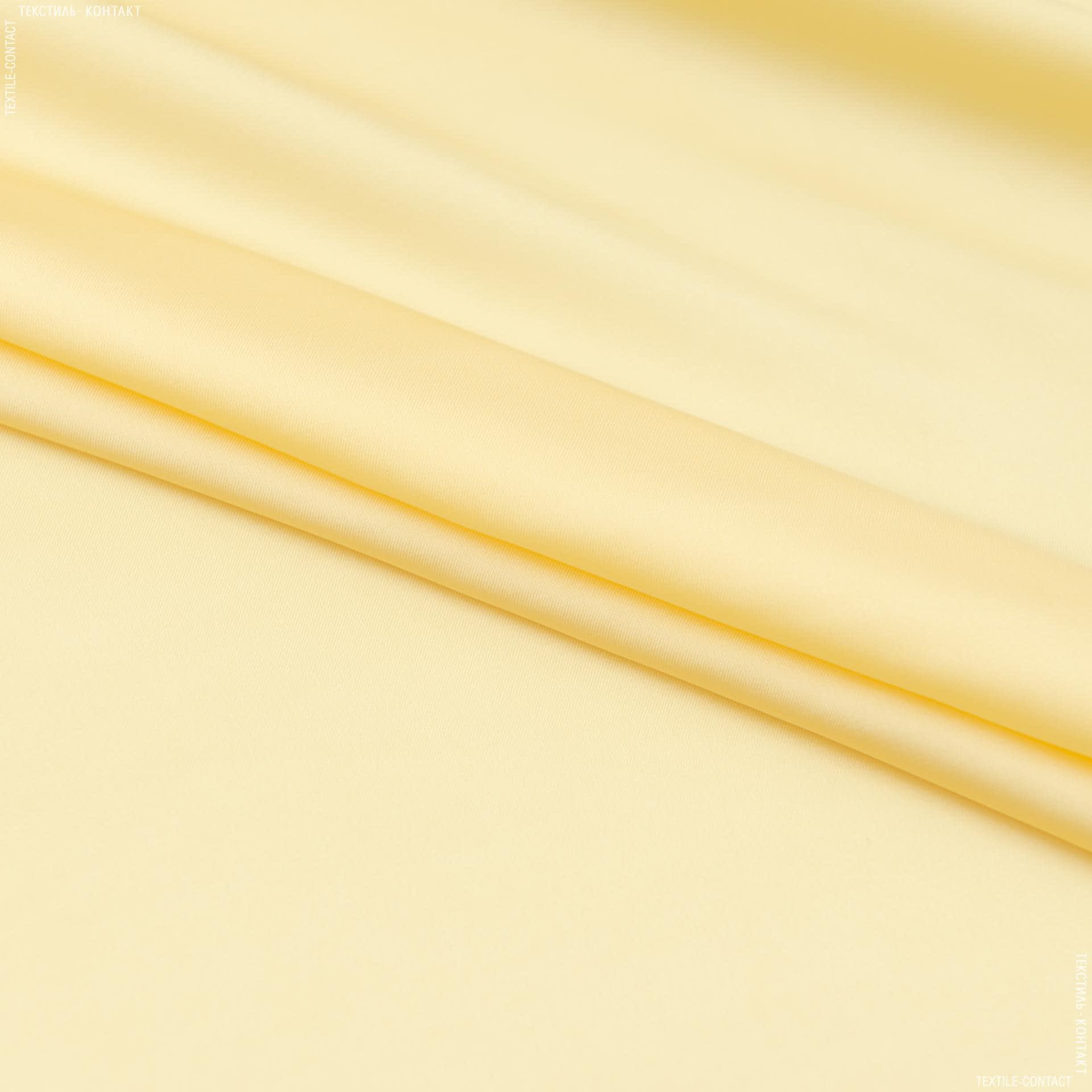Ткани для платков и бандан - Шелк искусственный светло-желтый