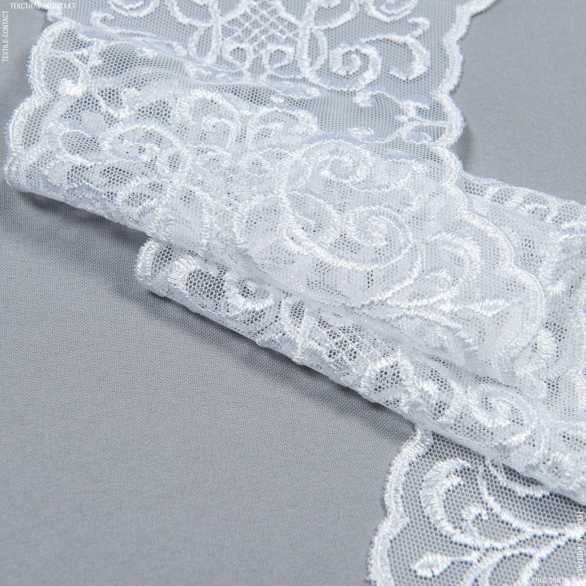 Тканини для печворку - Декоративне мереживо лівія / білий 16 см