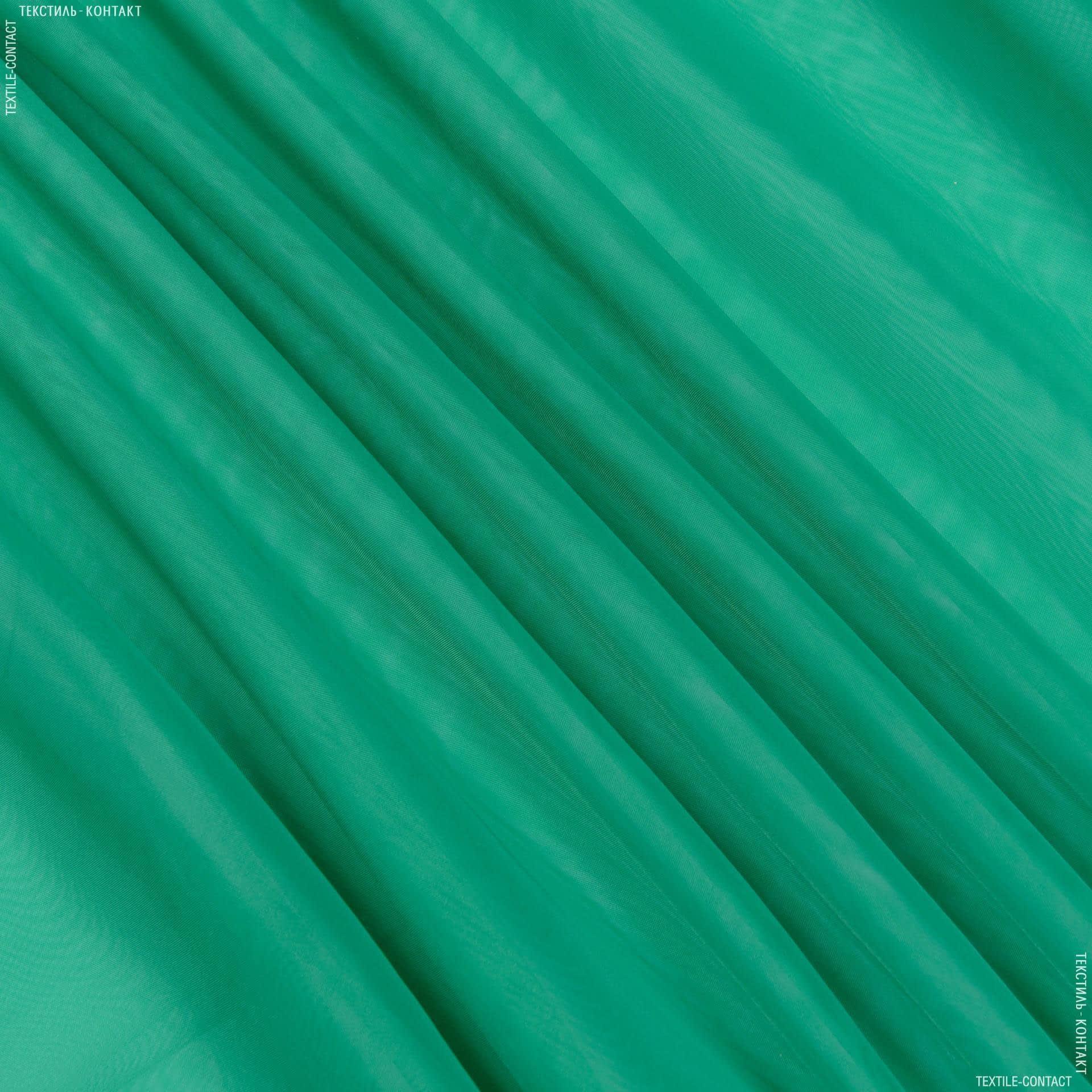 Ткани гардинные ткани - Тюль  вуаль  т.зеленый