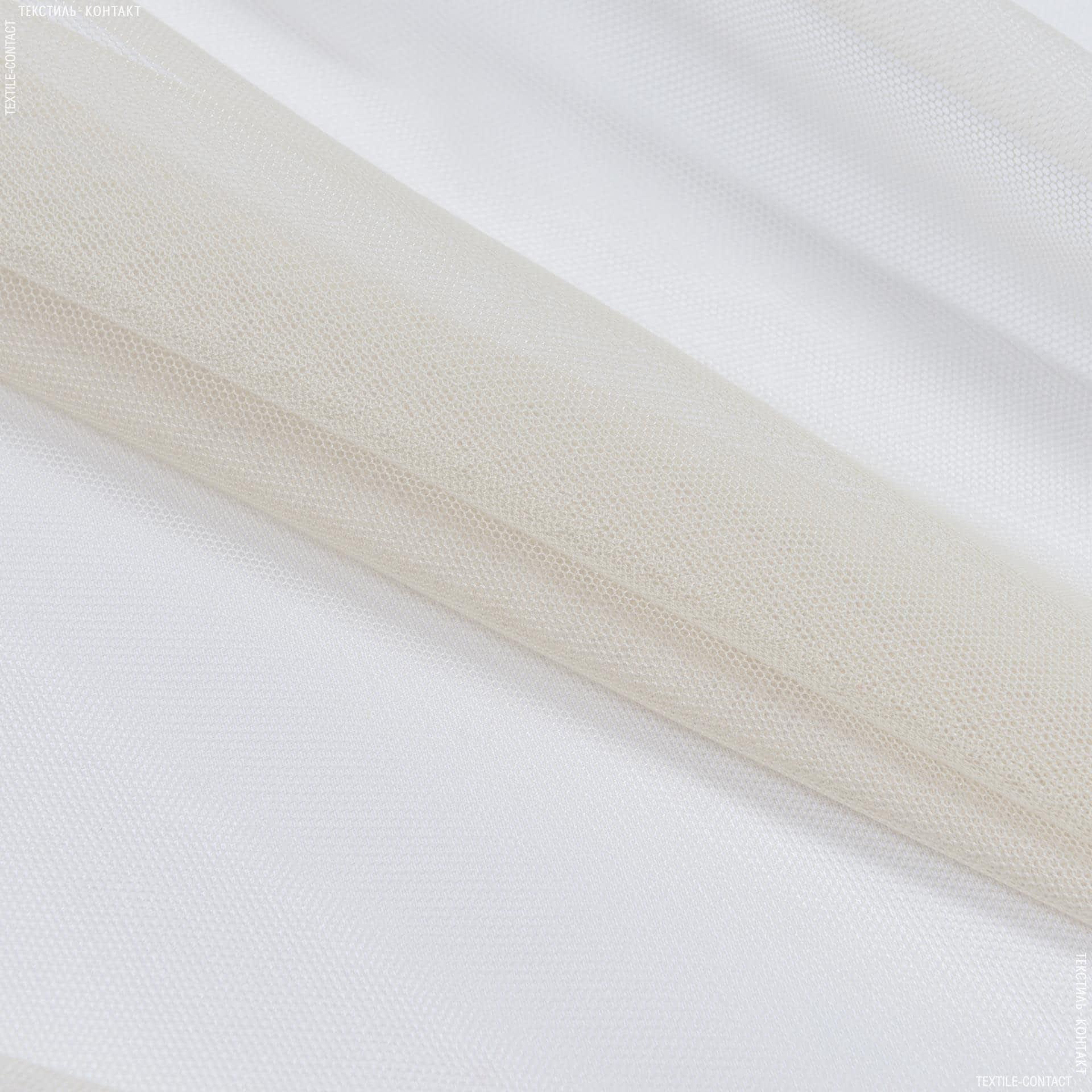 Ткани гардинные ткани - Тюль с утяжелителем сетка грек/grek  св.песок