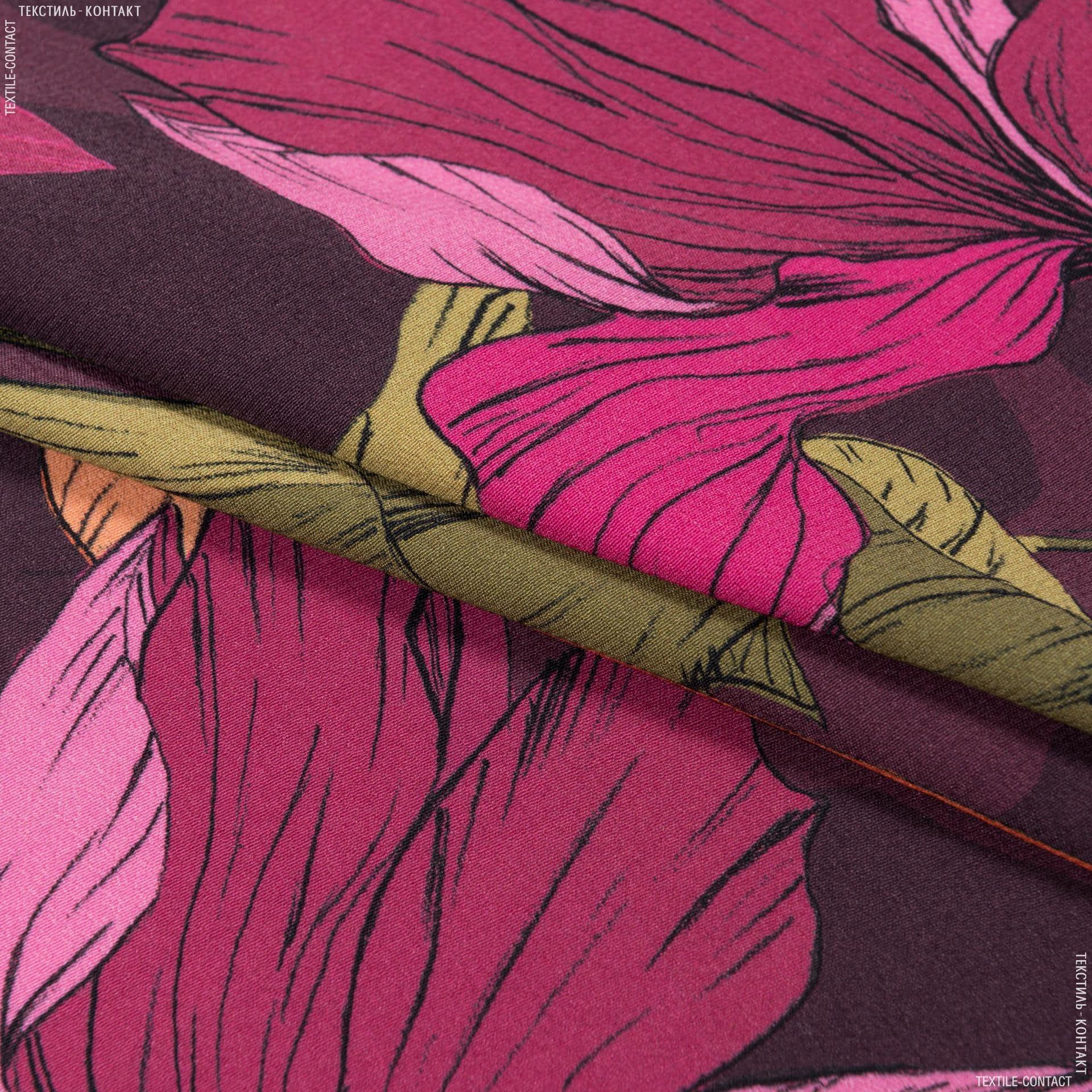 Тканини для хусток та бандан - Платтяний жоржет принт