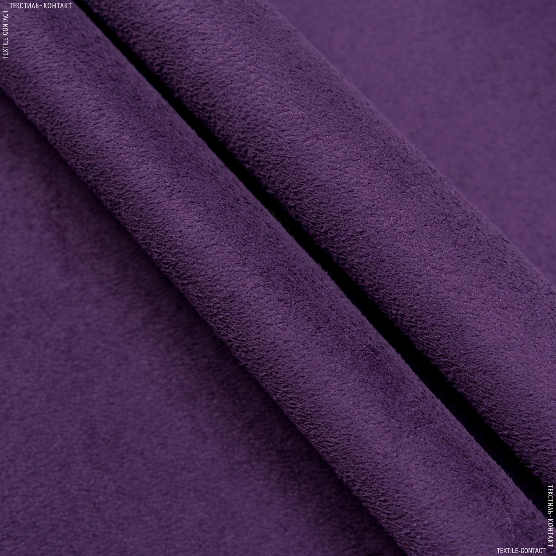 Ткани для верхней одежды - Дубленка искусственная фиолетовый