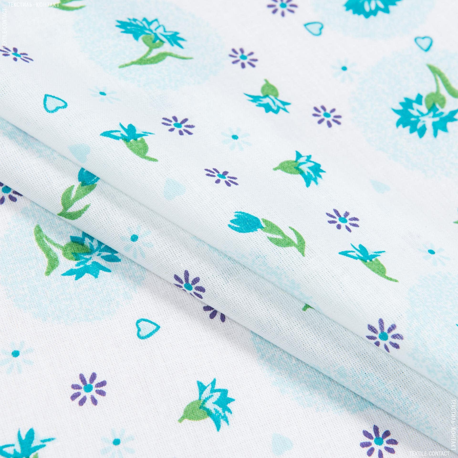 Ткани для сорочек и пижам - Ситец 67-ткч василек голубой