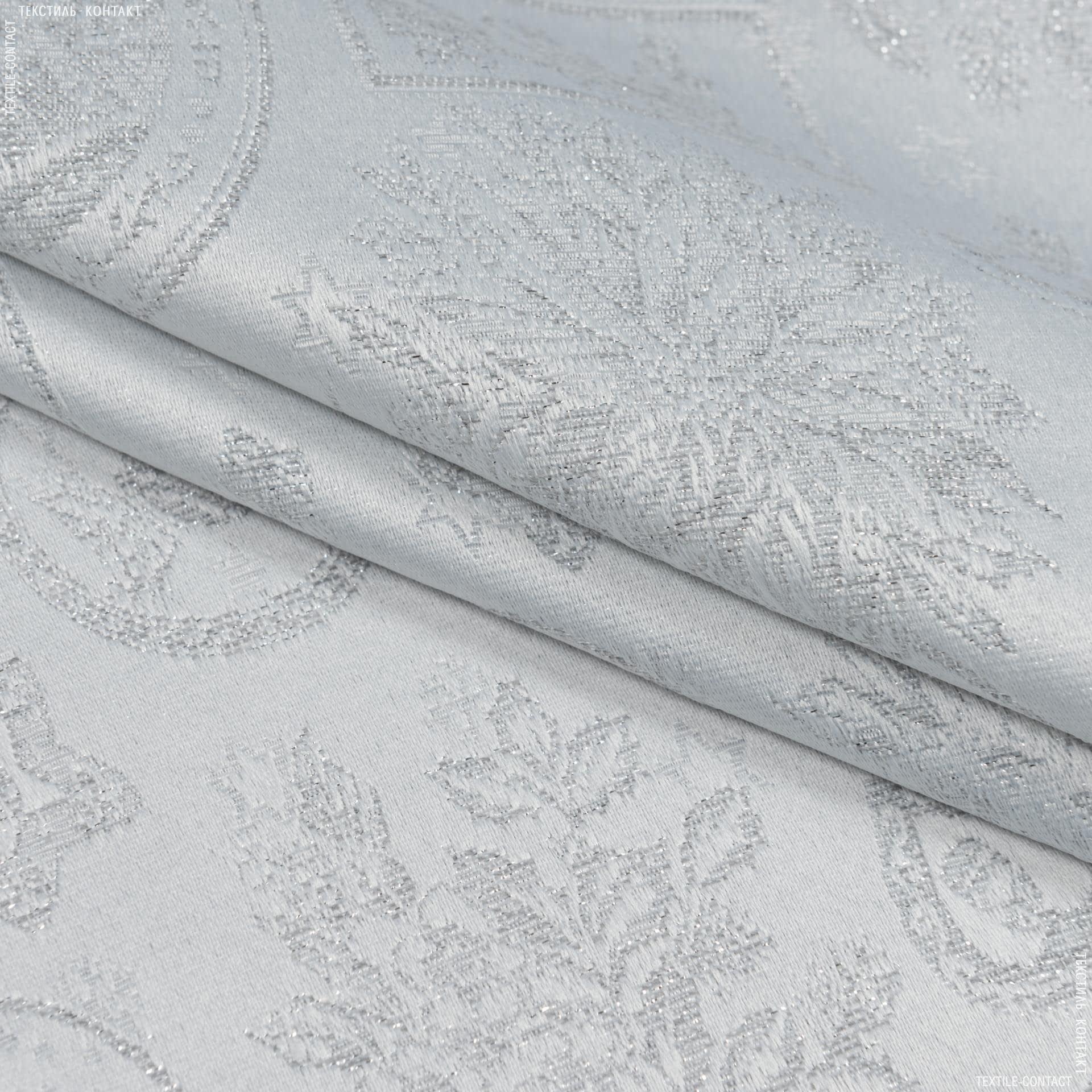 Тканини для декоративних подушок - Декоративна новорічна тканина люрекс картинки срібло