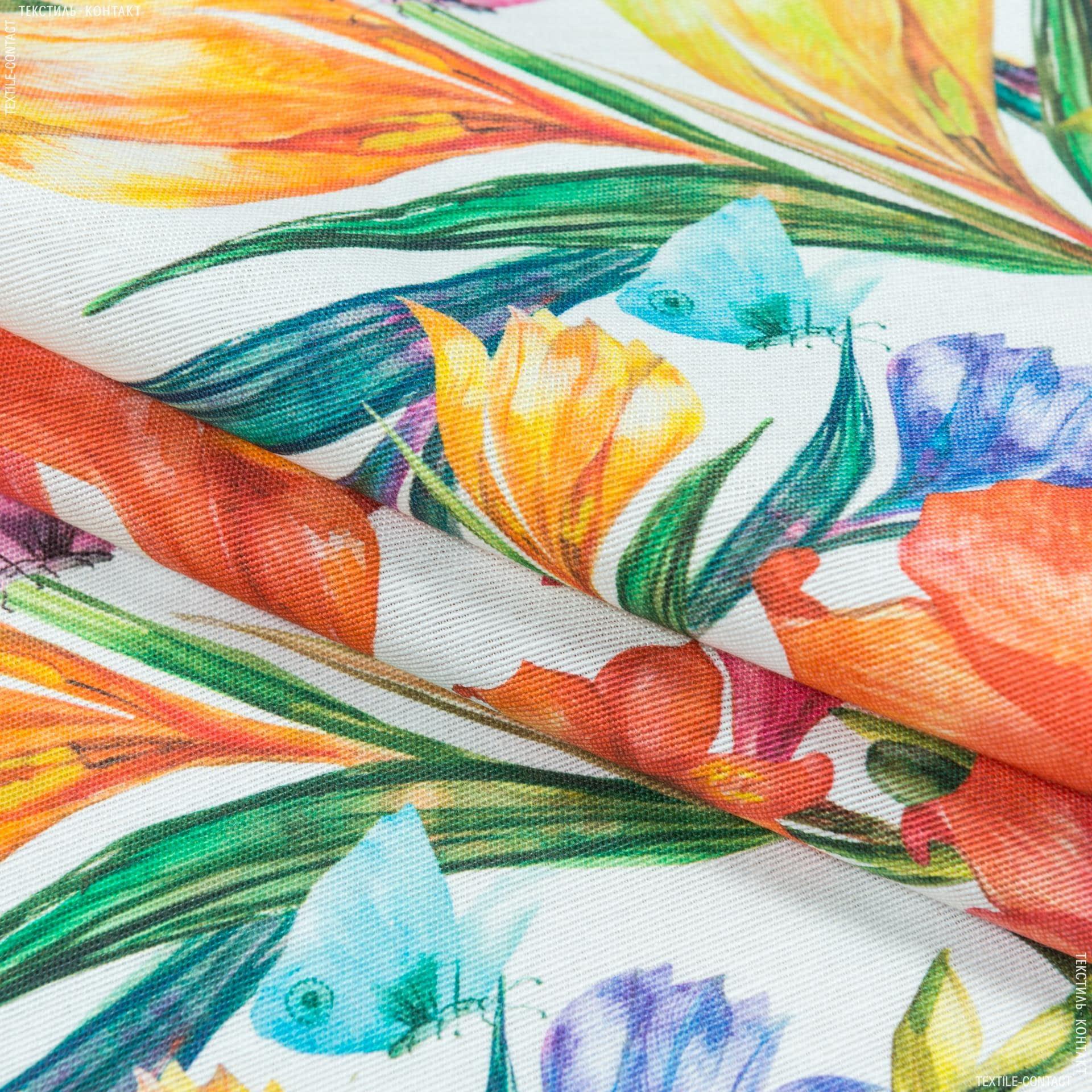 Ткани портьерные ткани - Декоративная ткань цветы амариллис мультиколор