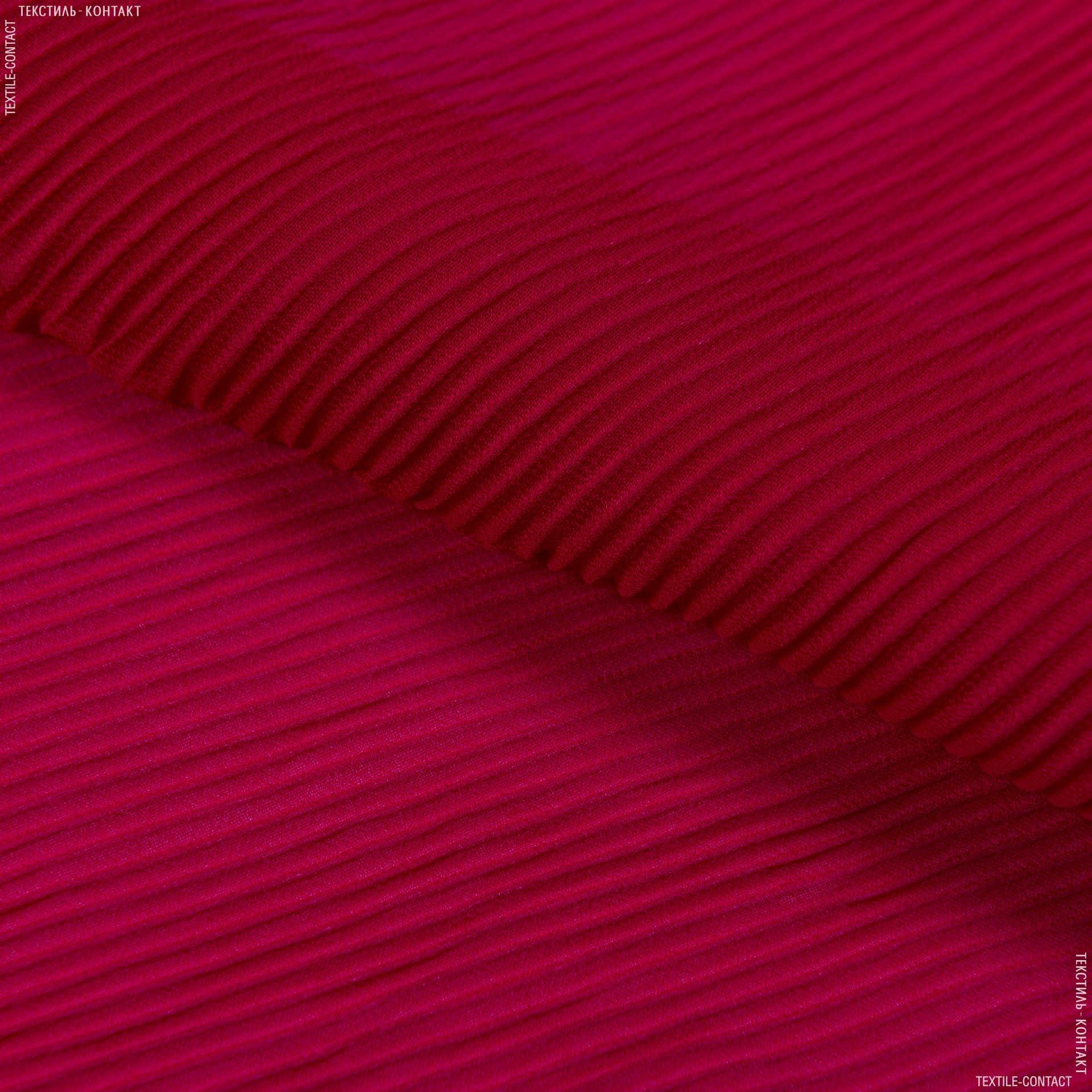 Тканини для суконь - Шифон плісе червоний