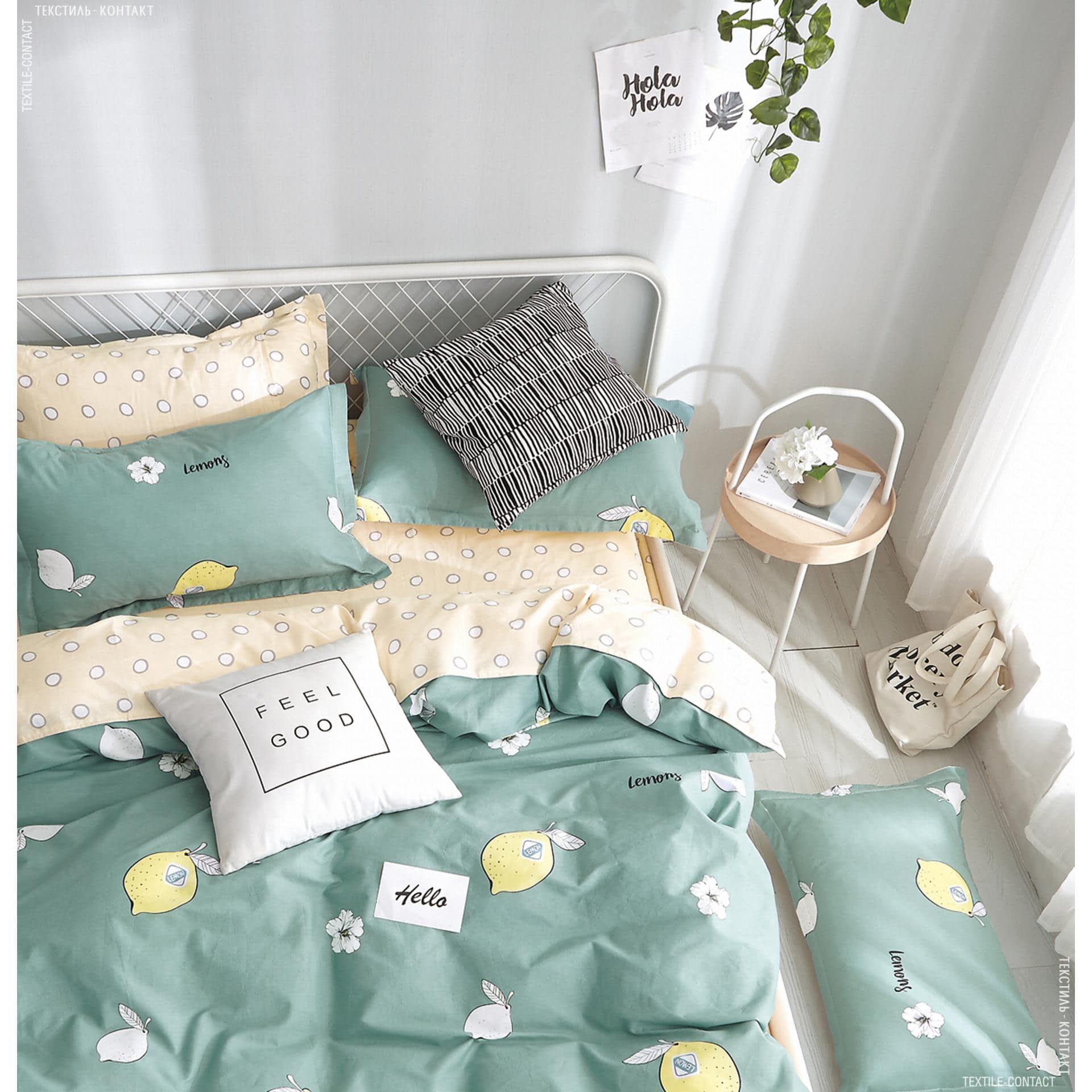 Ткани комплект постельного белья - Кпб сатиновый семейный лимон