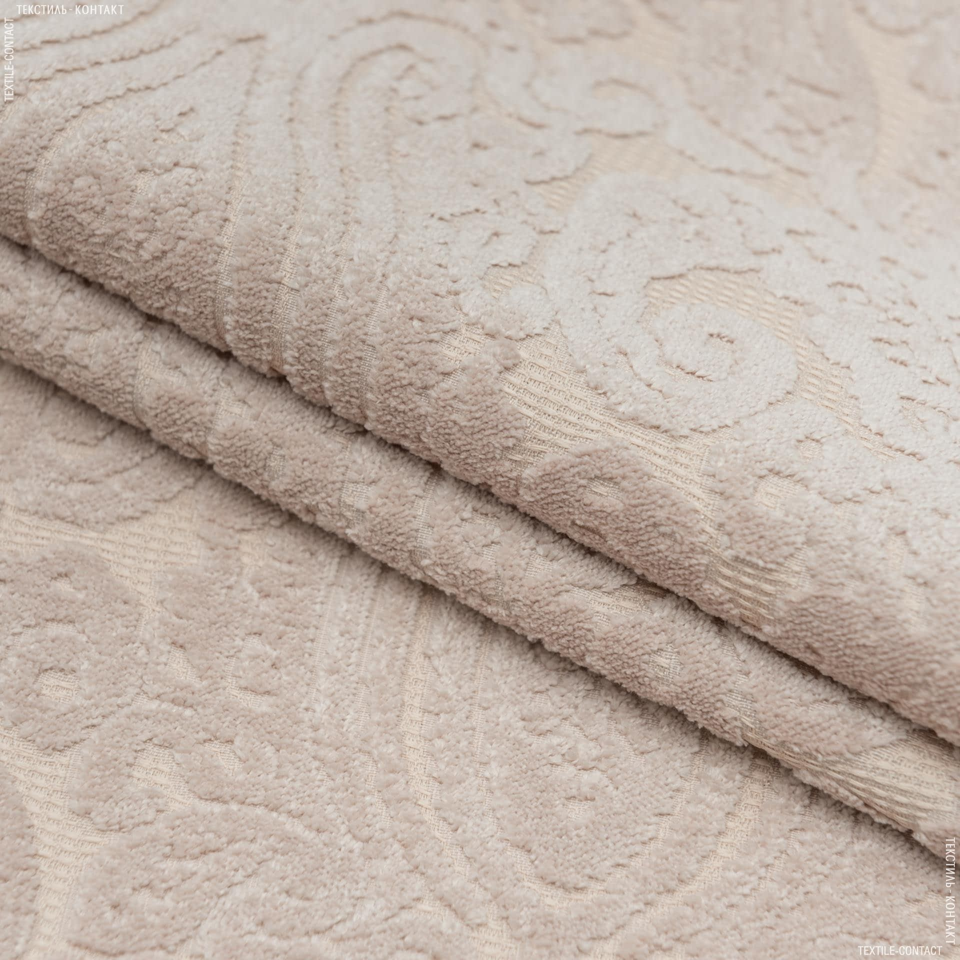 Тканини для меблів - Велюр візантія рожева пудра