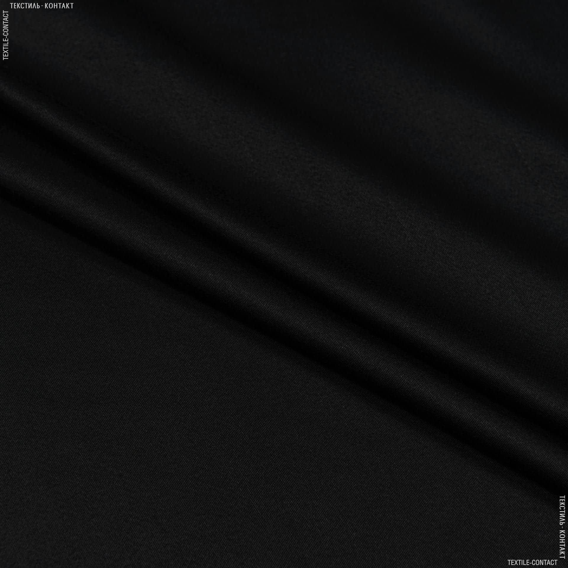 Тканини для суконь - Платтяний сатин  чорний