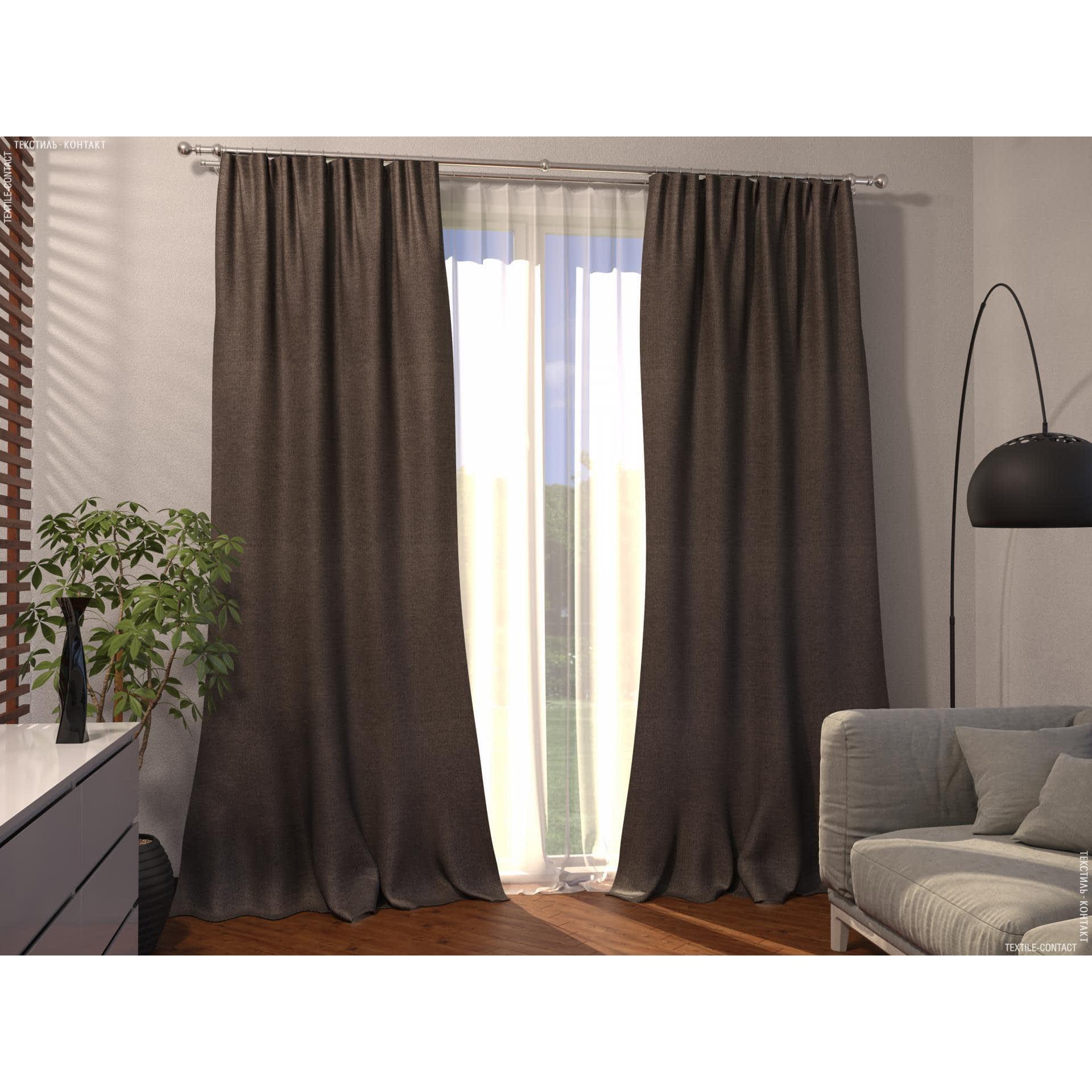Тканини готові вироби - Декоративна штора блекаут меланж/ коричневий