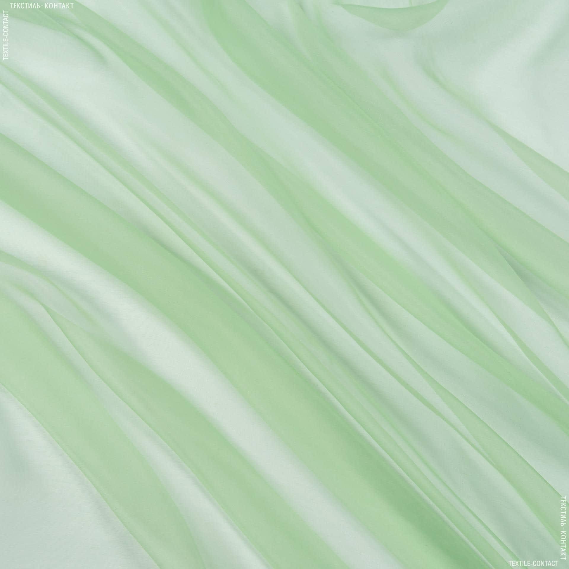 Тканини для тюлі - Органза-батист з обважнювачем Соната зел. Яблуко
