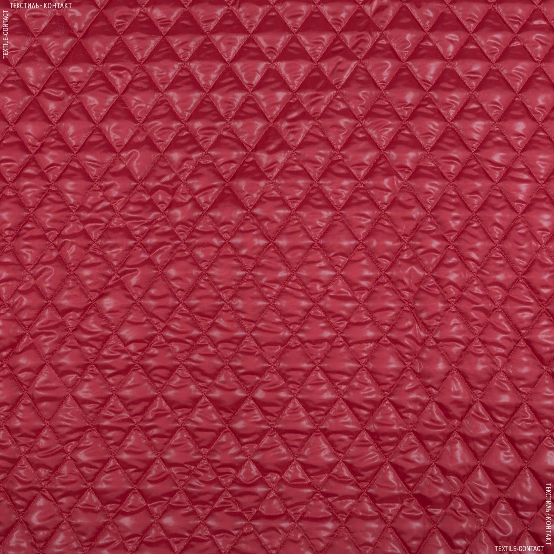 Ткани для спортивной одежды - Плащевая руби лаке стеганая темно-красный