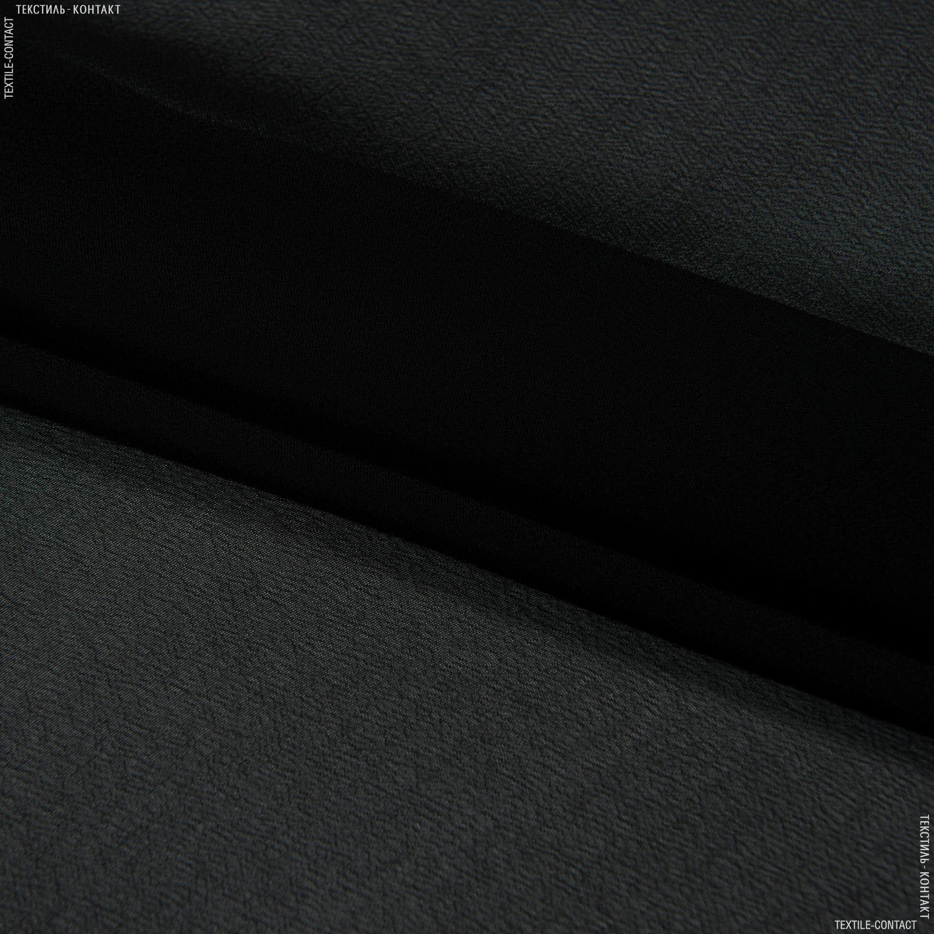 Ткани для платков и бандан - Шифон мульти черный