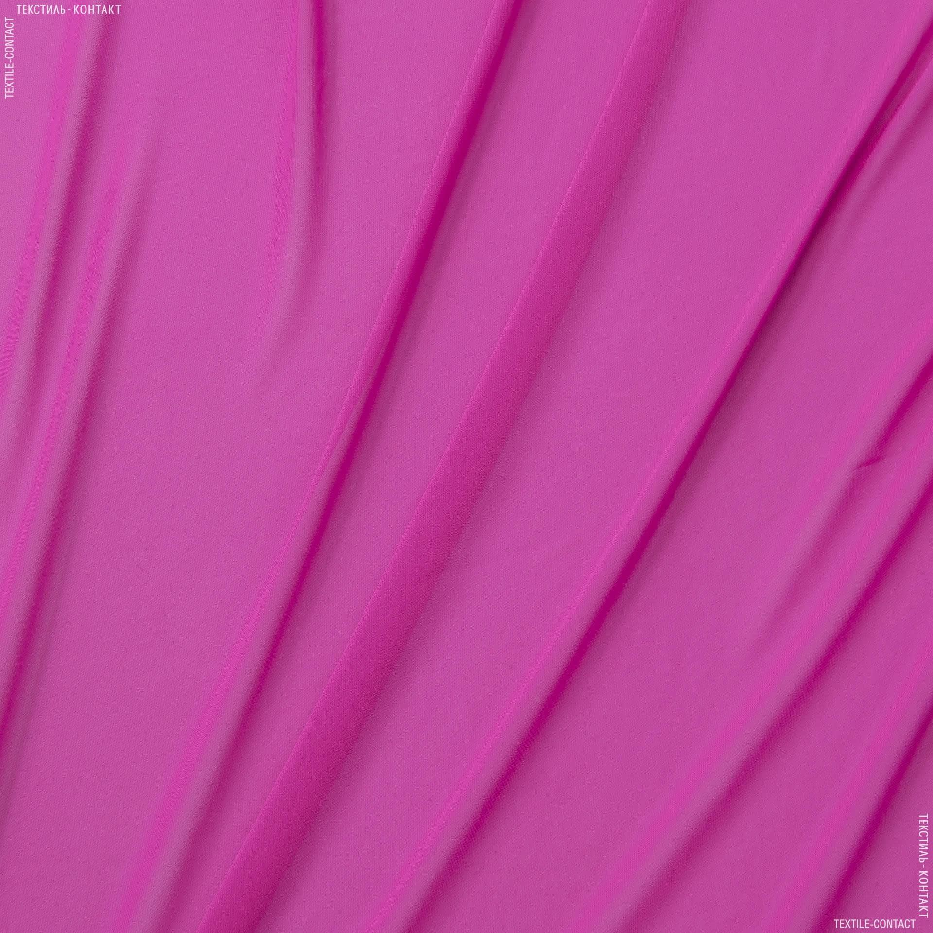 Тканини для хусток та бандан - Шифон мульті яскраво-малиновий