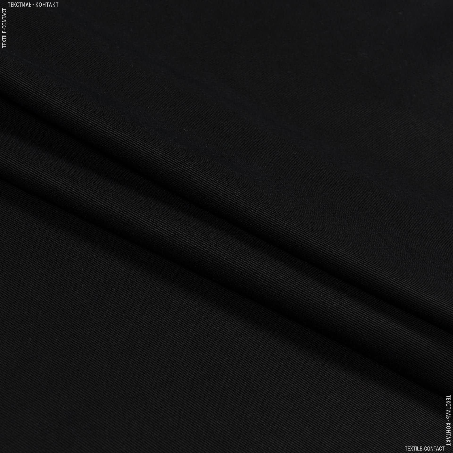 Тканини для суконь - Платтяно-костюмна тенсел діагональ чорний