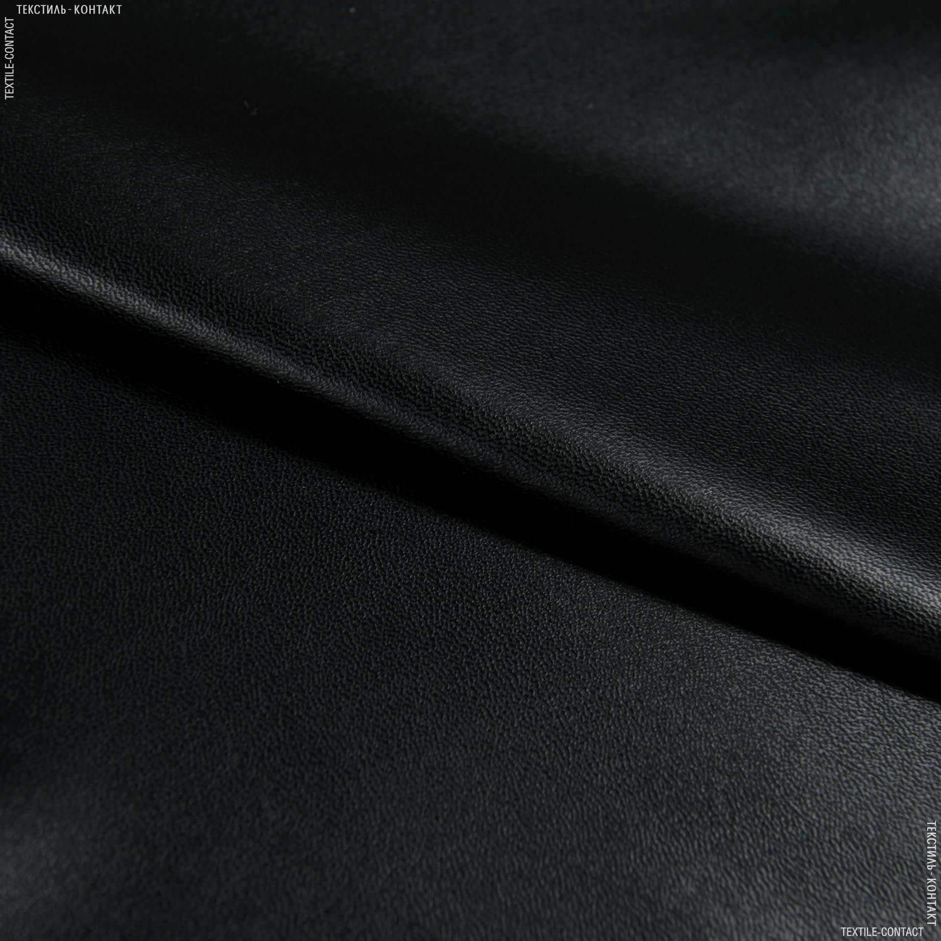 Ткани для брюк - Кожа искусственная черный