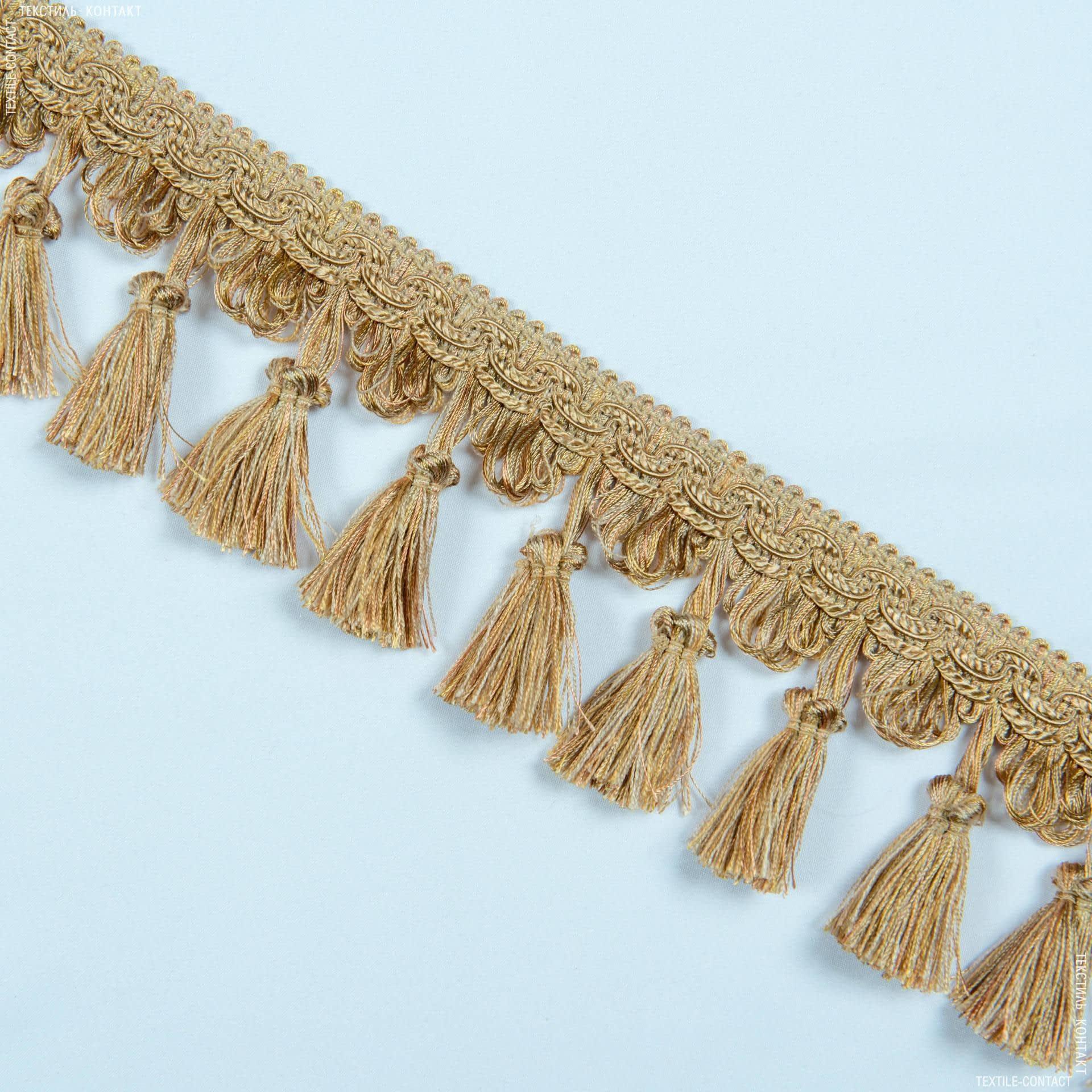 Тканини фурнітура для декора - Бахрома солар китиця карамель
