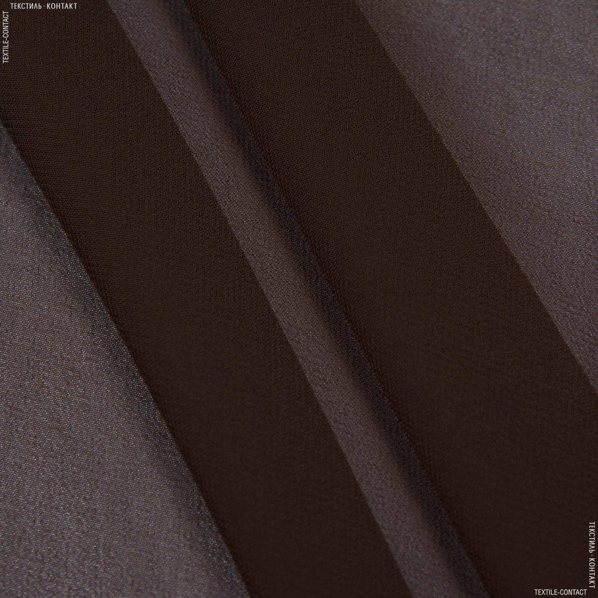 Тканини для хусток та бандан - Шифон мульті темно-коричневий