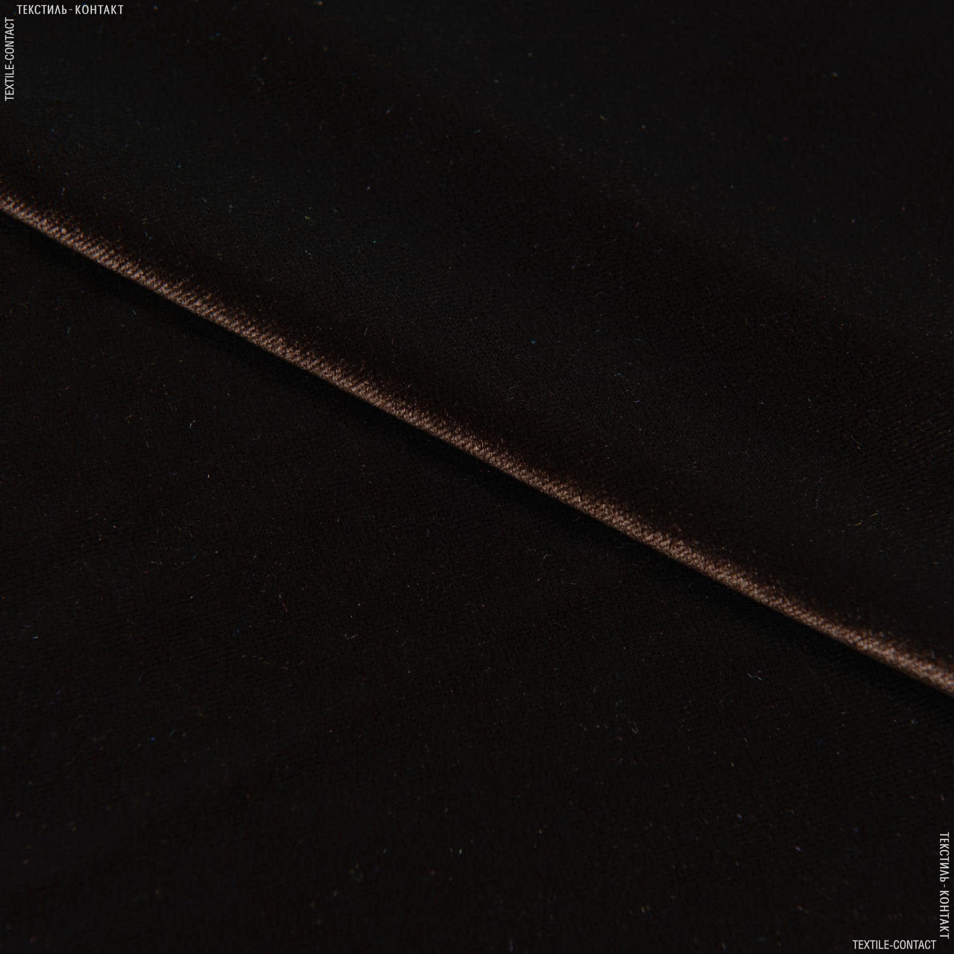 Ткани для платьев - Бархат стрейч шоколадный