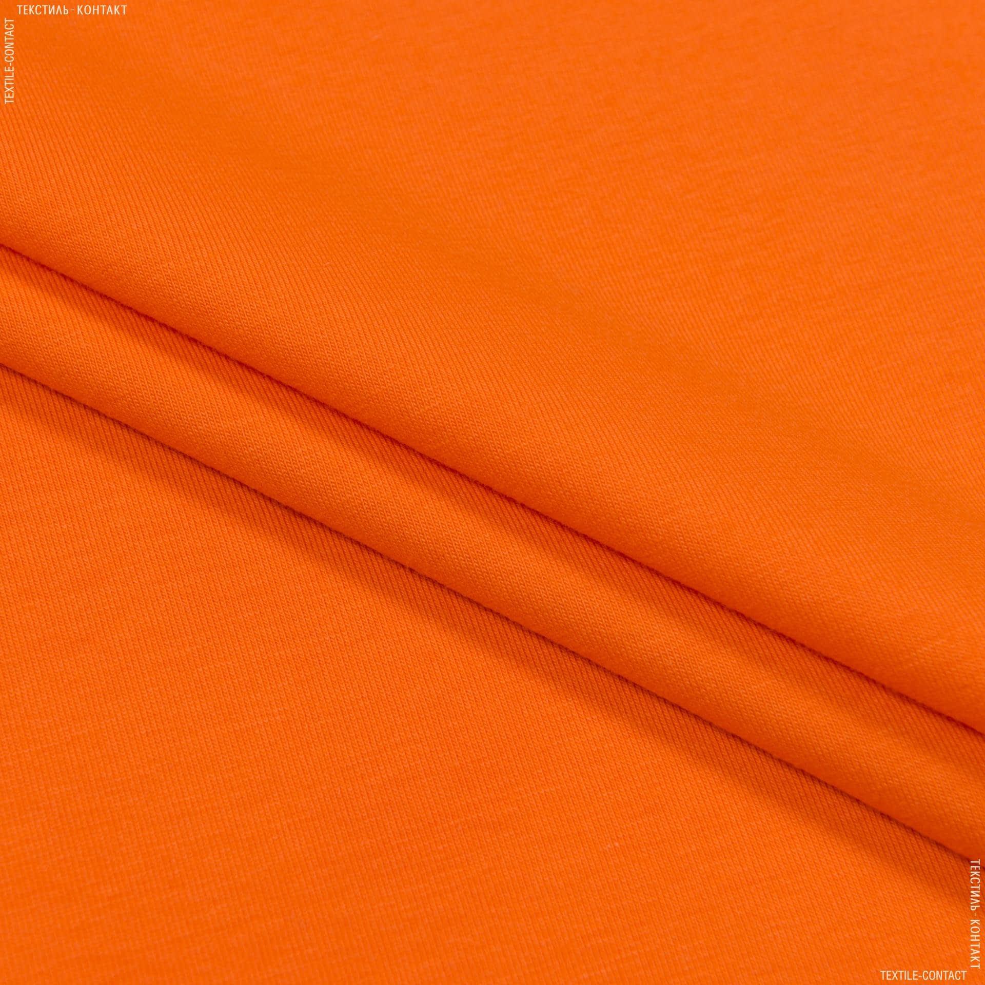 Тканини для суконь - Кулір- стрейч penye  помаранчевий