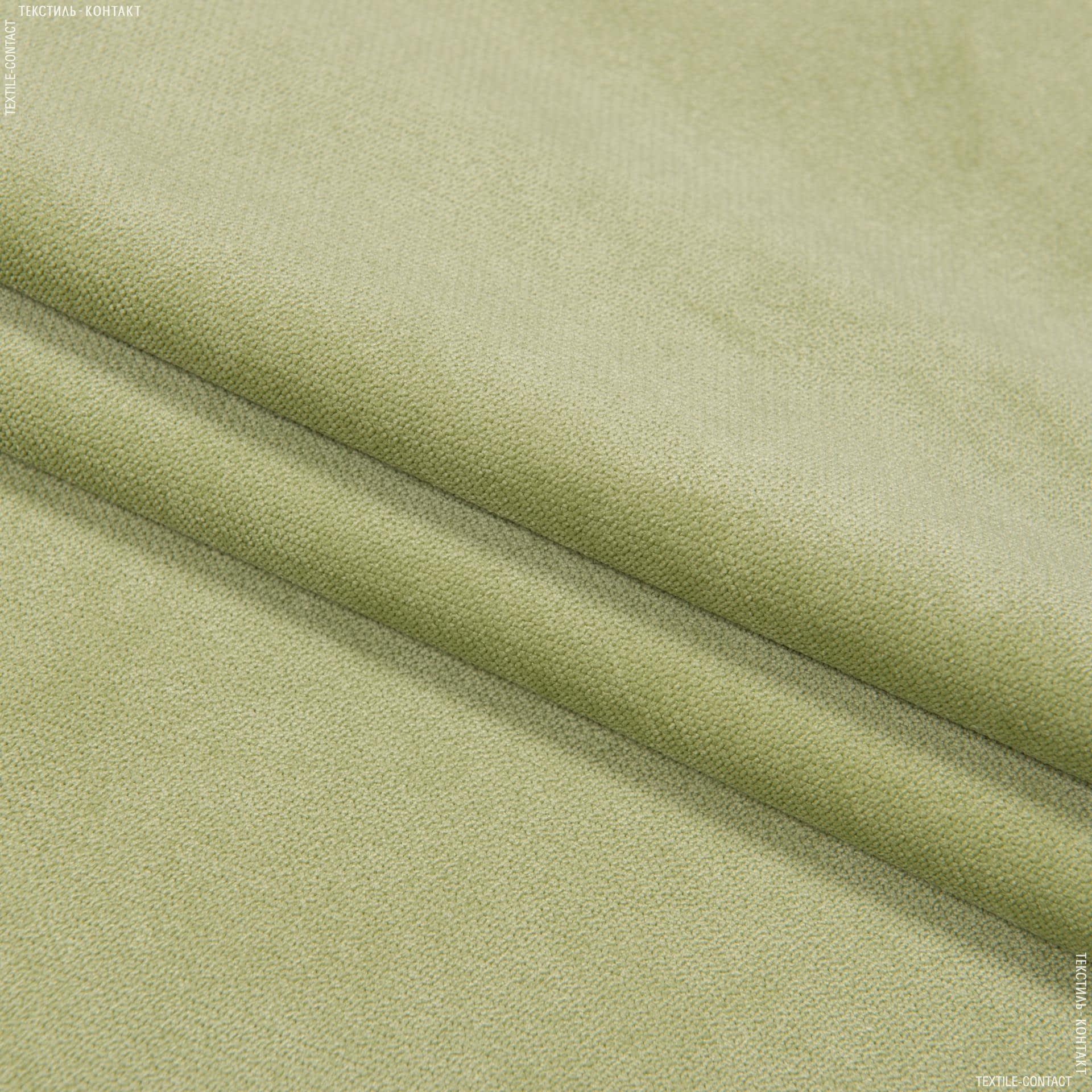 Тканини для меблів - Велюр будапешт/budapest зелене яблуко