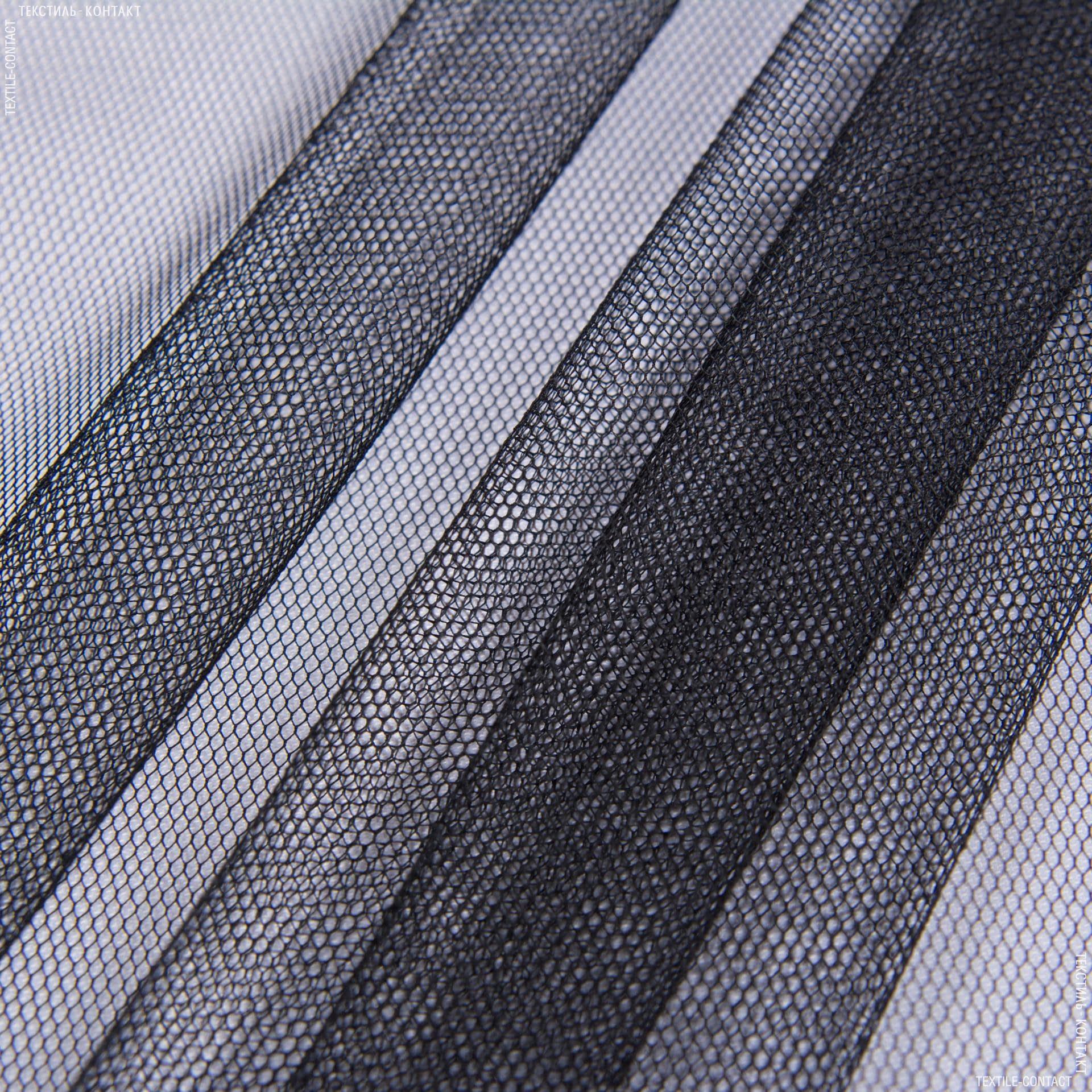 Тканини для суконь - Фатин чорний