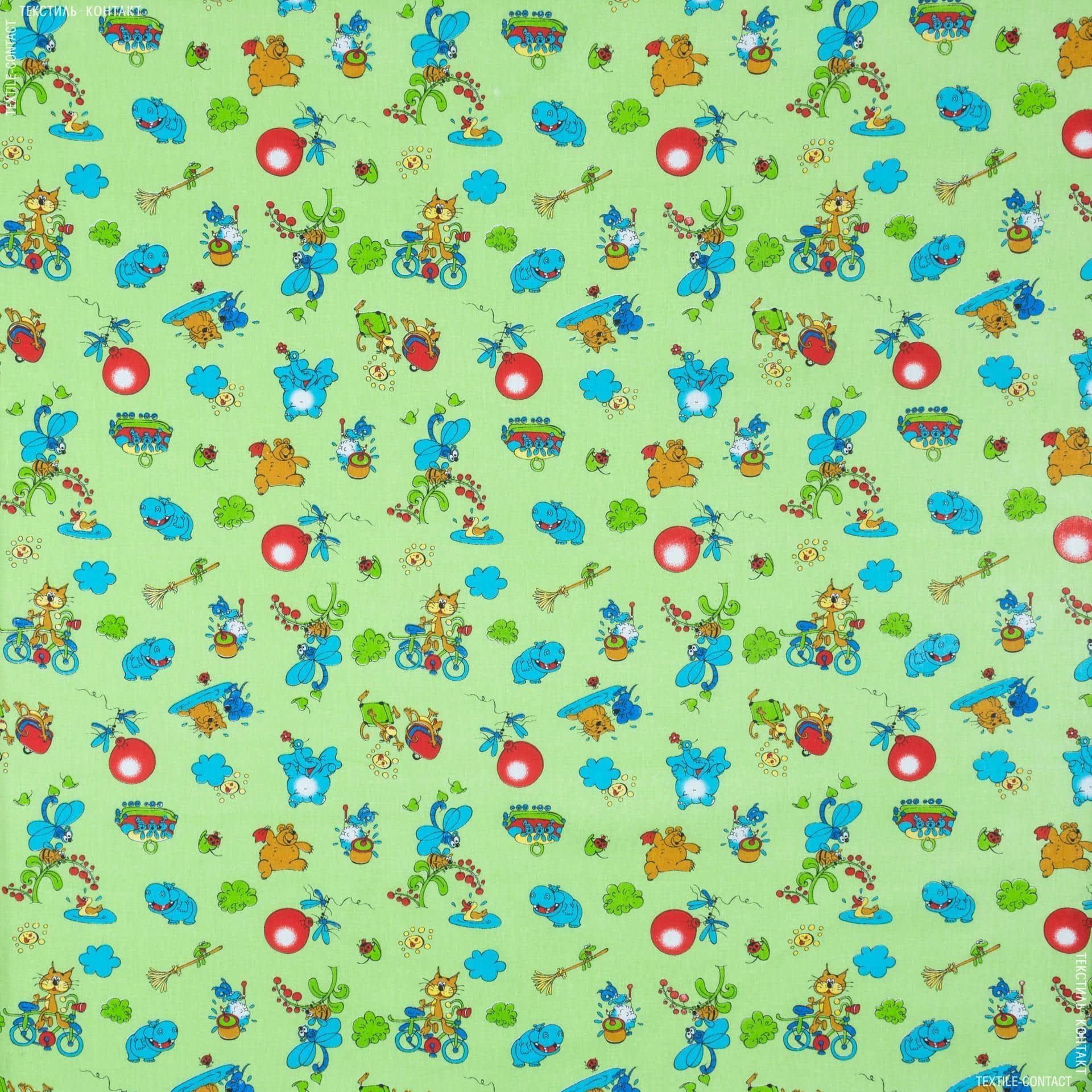 Ткани для детского постельного белья - Бязь набивная детская муза