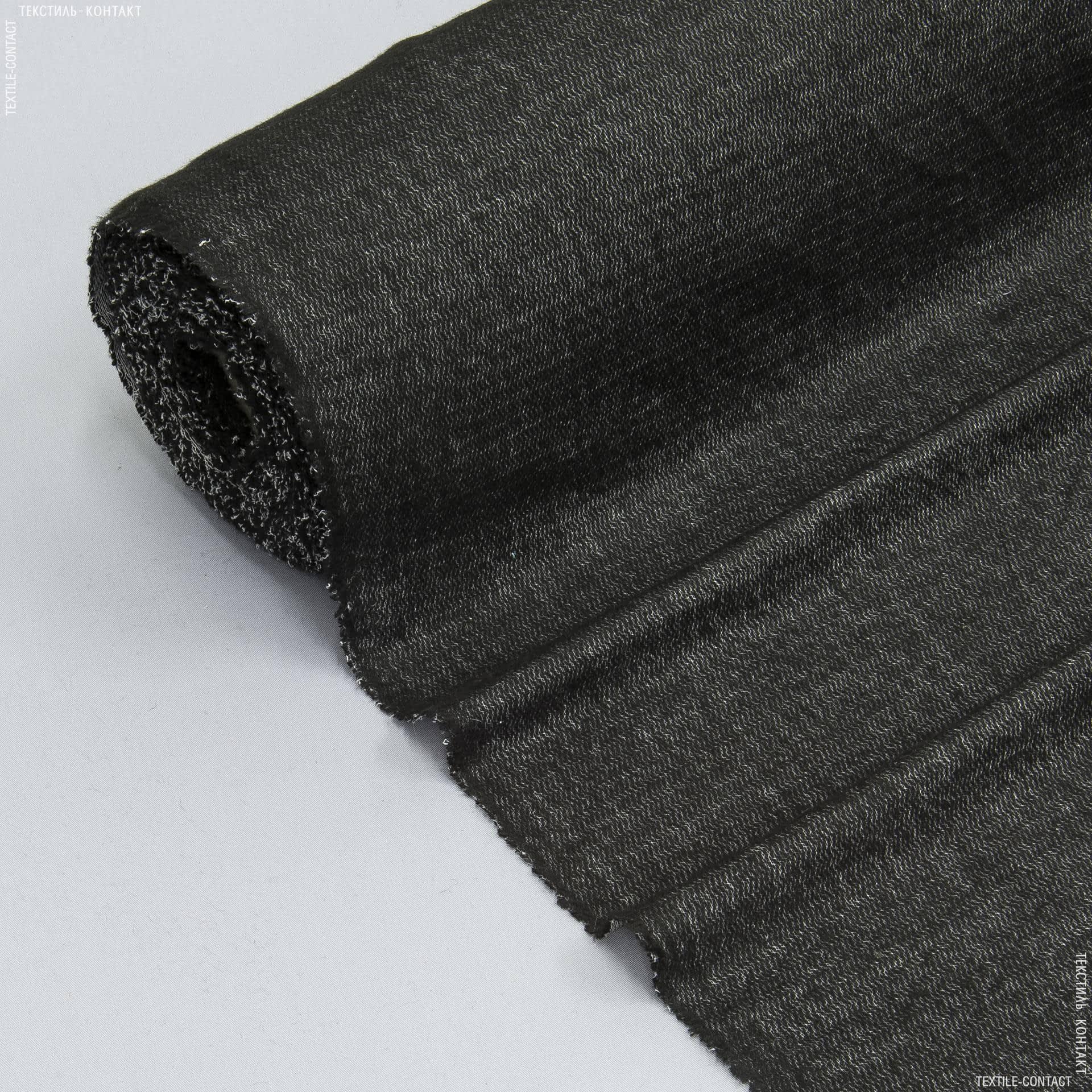 Тканини дублірин, флізелін - Дублірин трикотажний чорний 60г/м