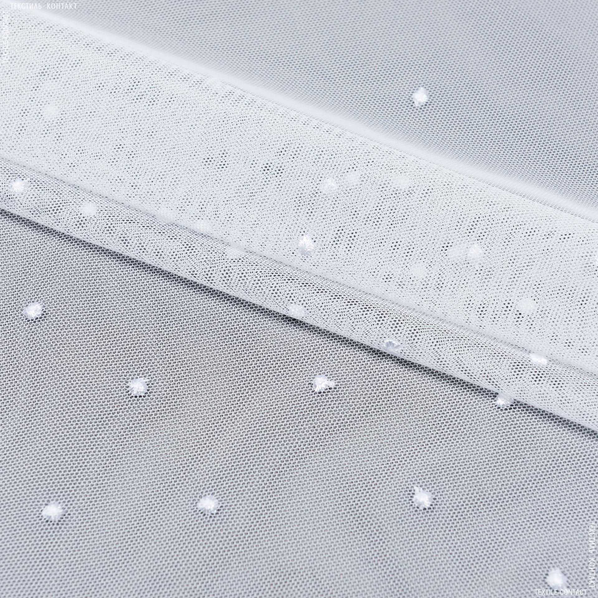 Тканини для тюлі -  тюль вишивка евгенія білий