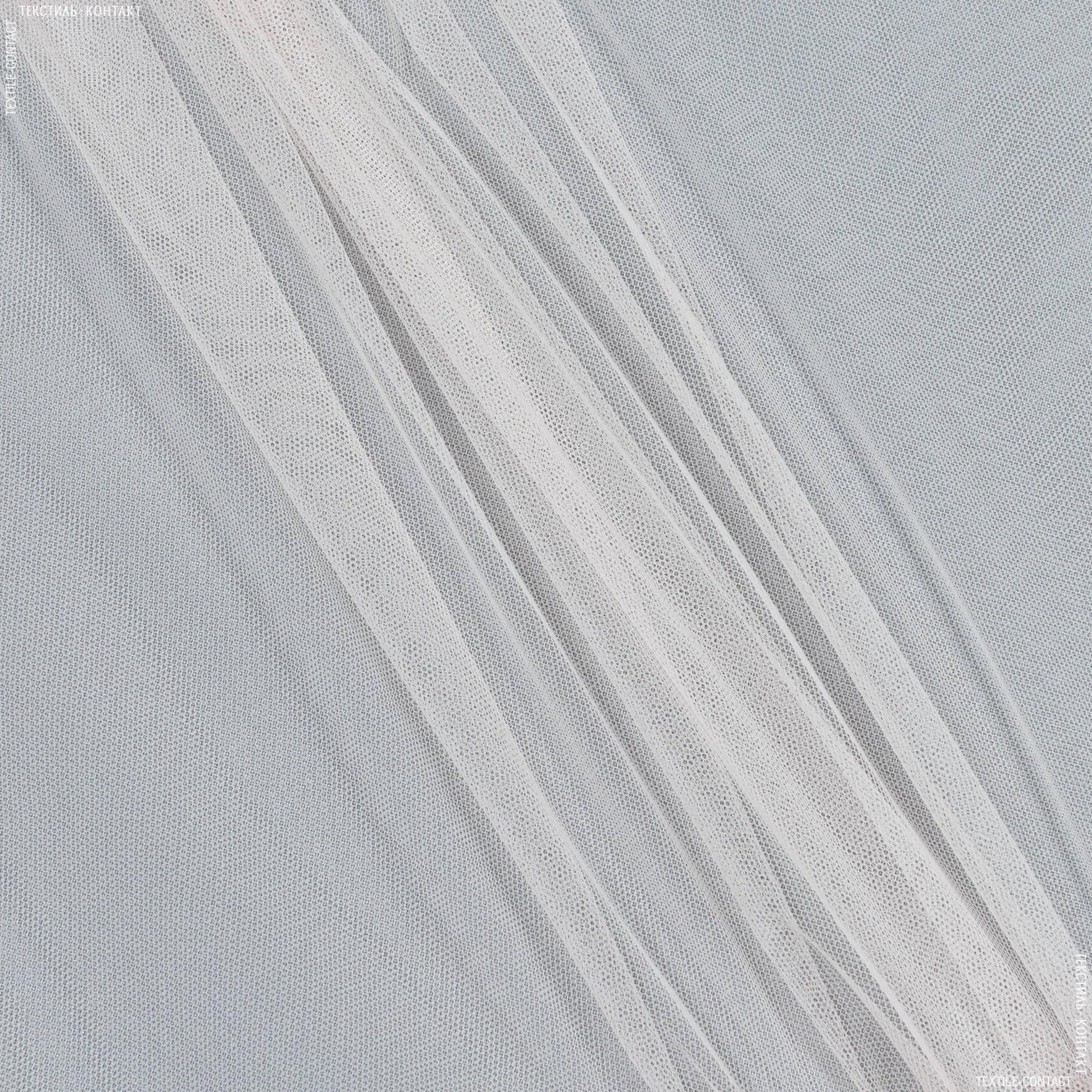 Тканини для суконь - Фатин біло-персиковий