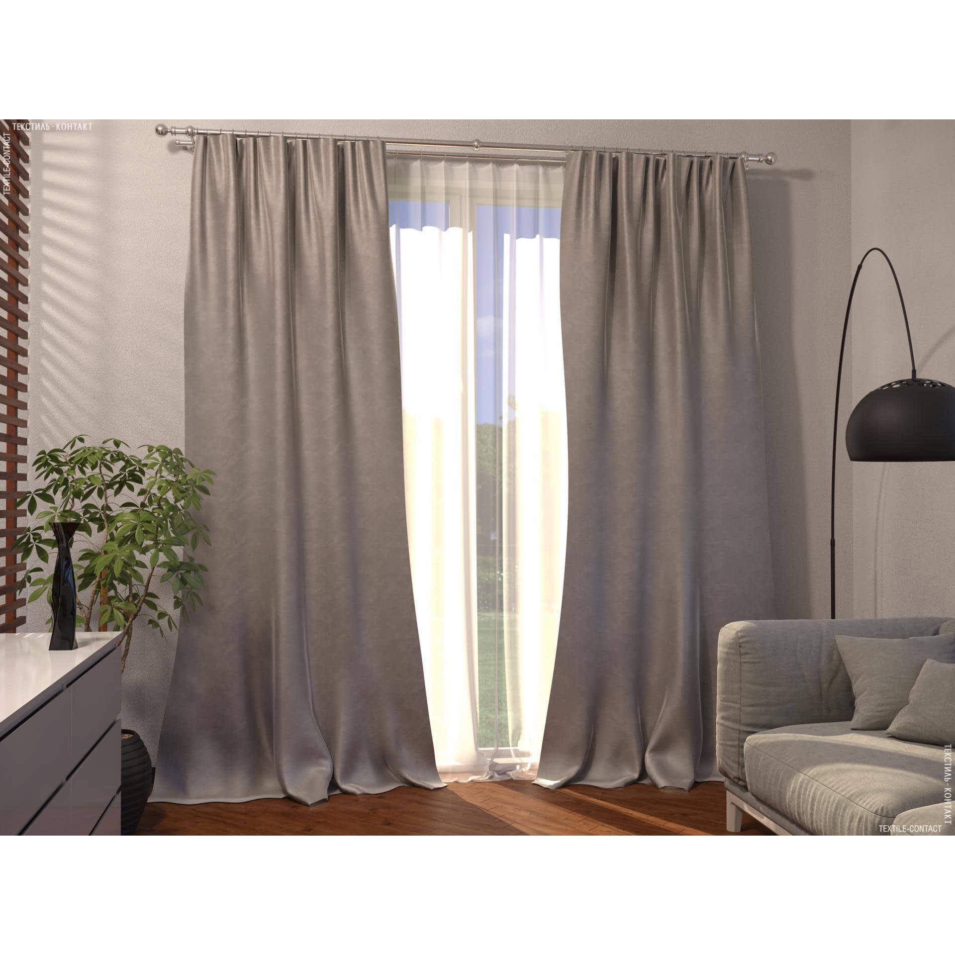 Ткани готовые изделия - Декоративная штора велюр миллениум/песок 140/270 см