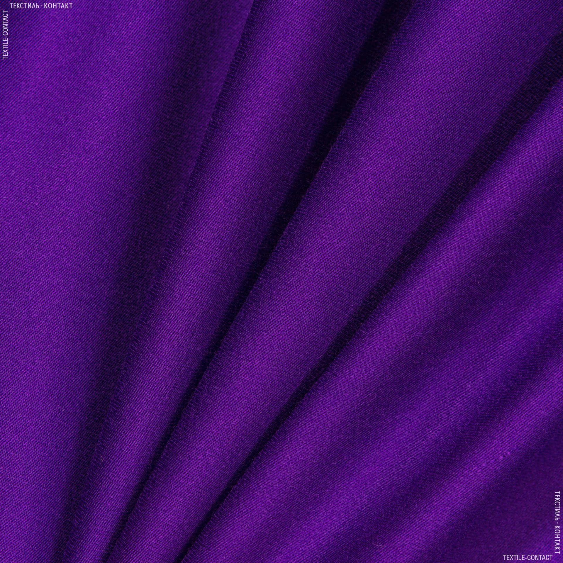 Тканини для костюмів - Костюмний сатин віскозний фіолетовий