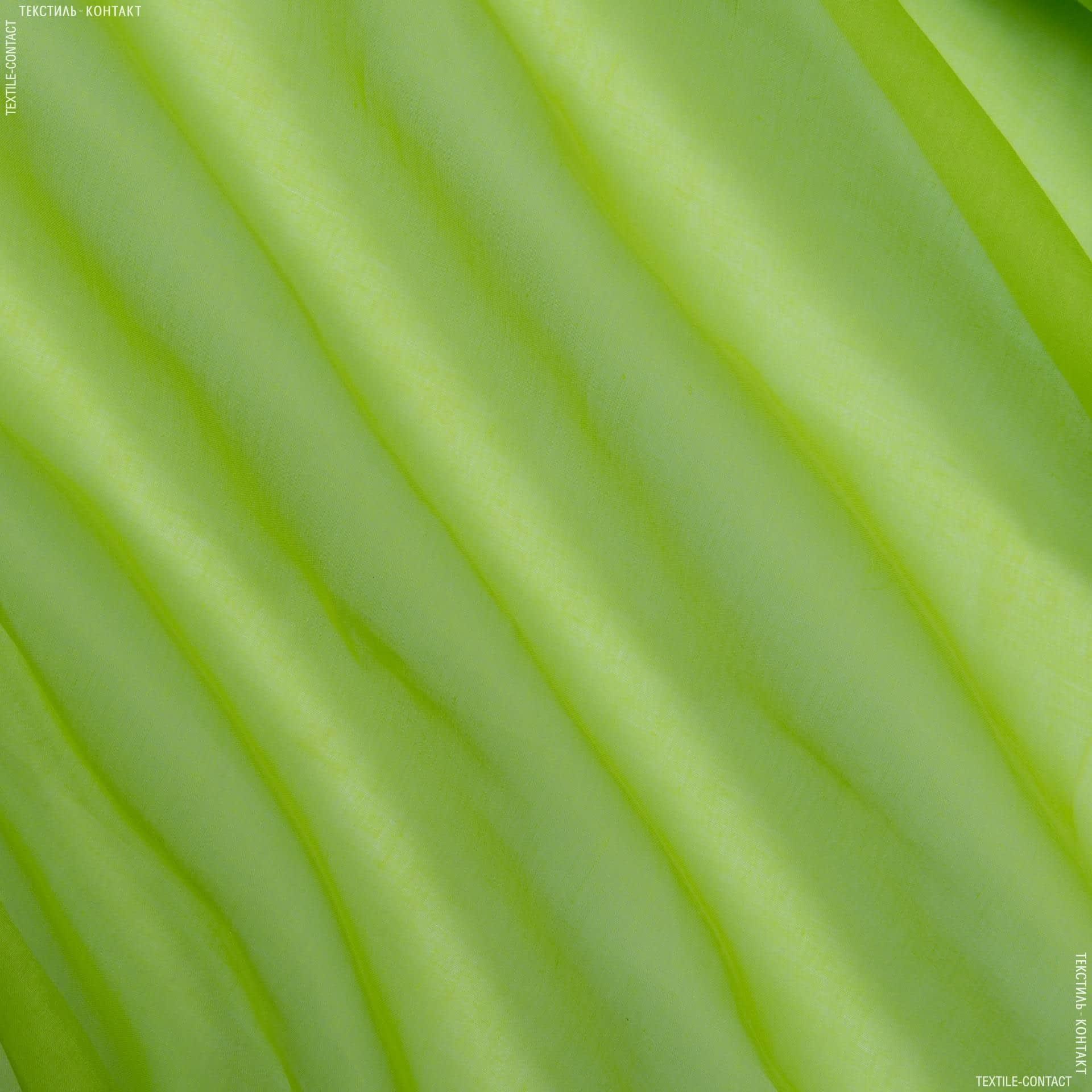 Ткани для тюли - Батист Индия,  зеленое яблоко