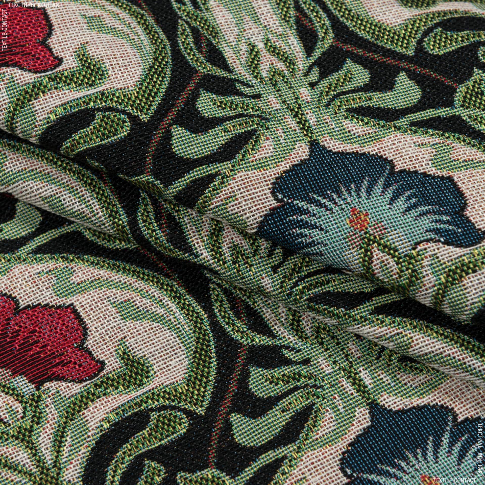 Ткани портьерные ткани - Декоративная ткань   лаутрес цветы фон черный