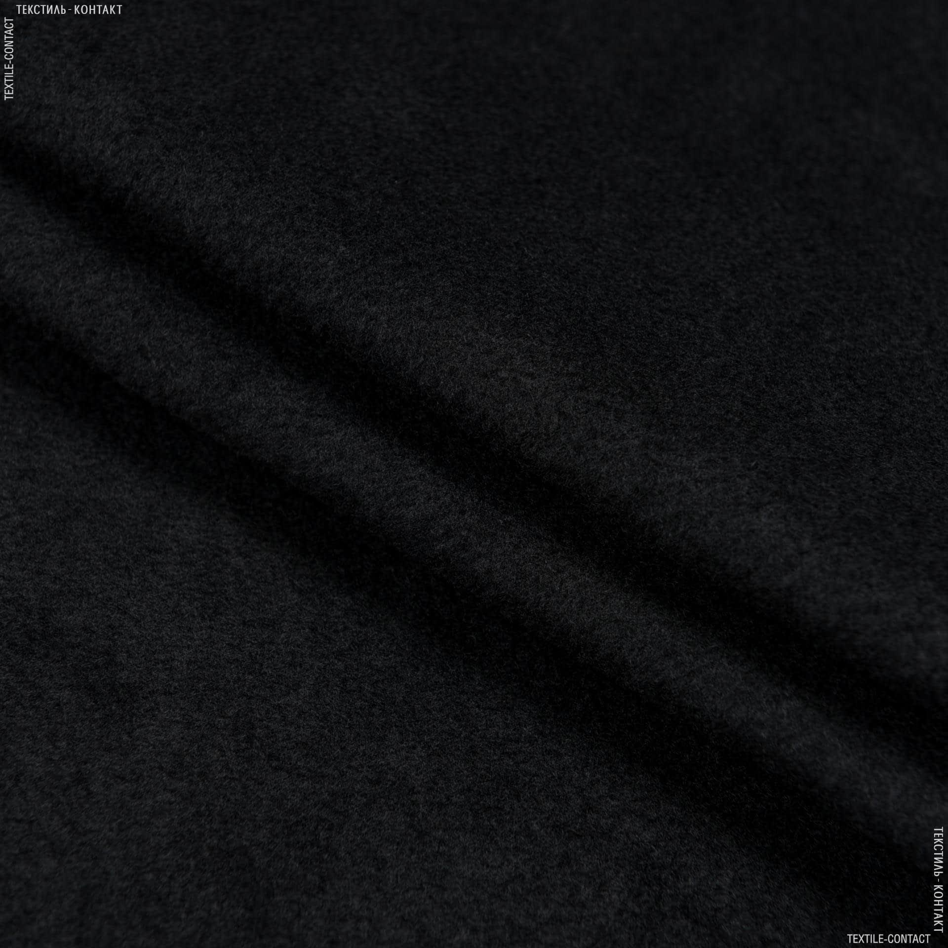Ткани для спортивной одежды - Флис черный